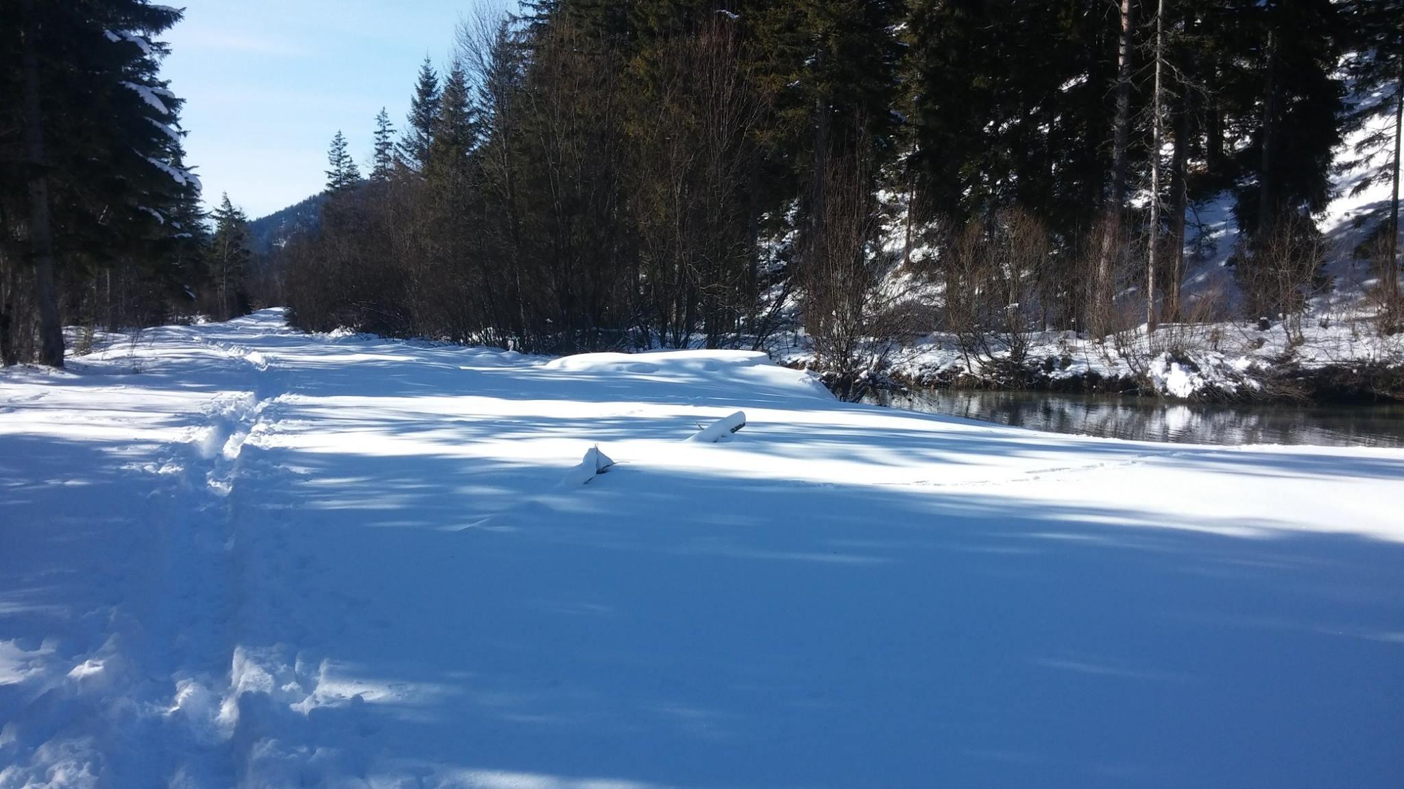 Hubertussee Schneeweg