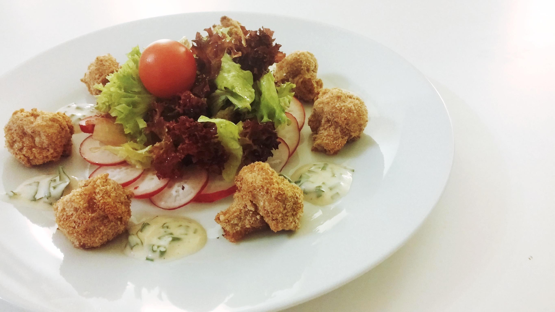 Champignons -Gebacken - Panierte - Austrian Food- Vegan