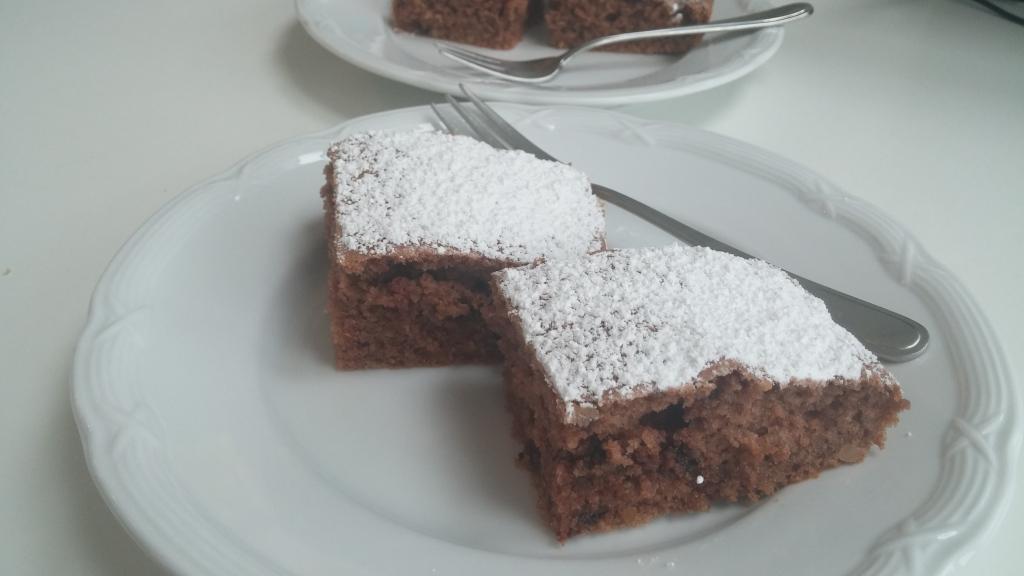 Veganer Schoko Erdnuss Kuchen