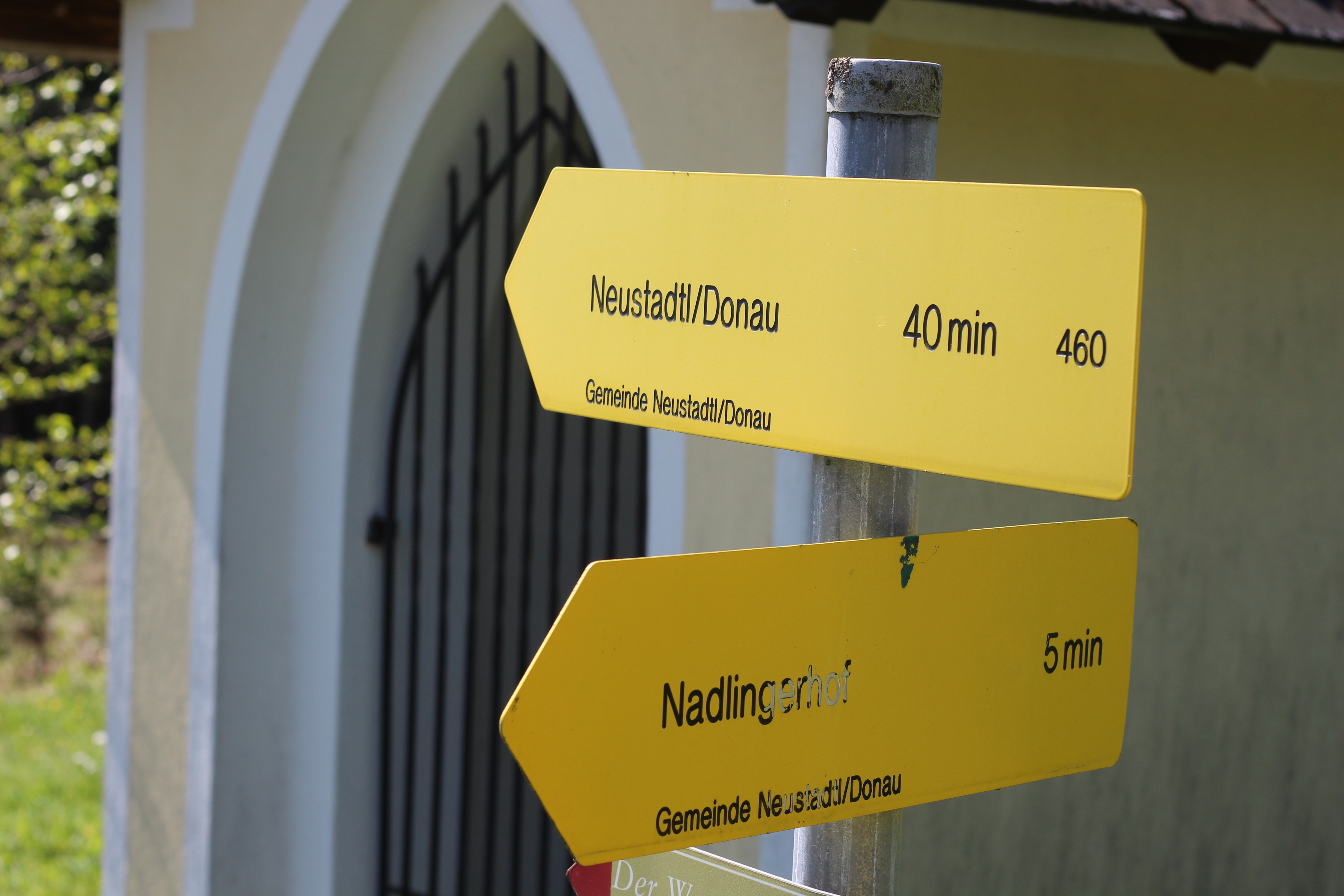 Wegweiser Neustadtl