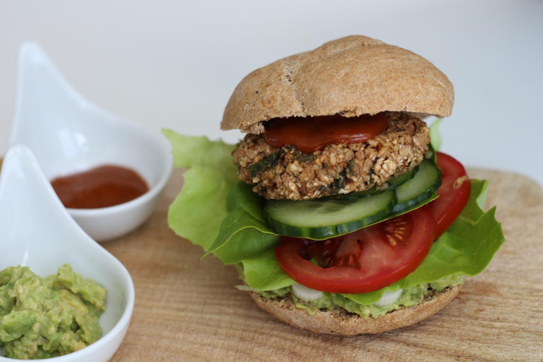 Veganer Mostviertler Burger