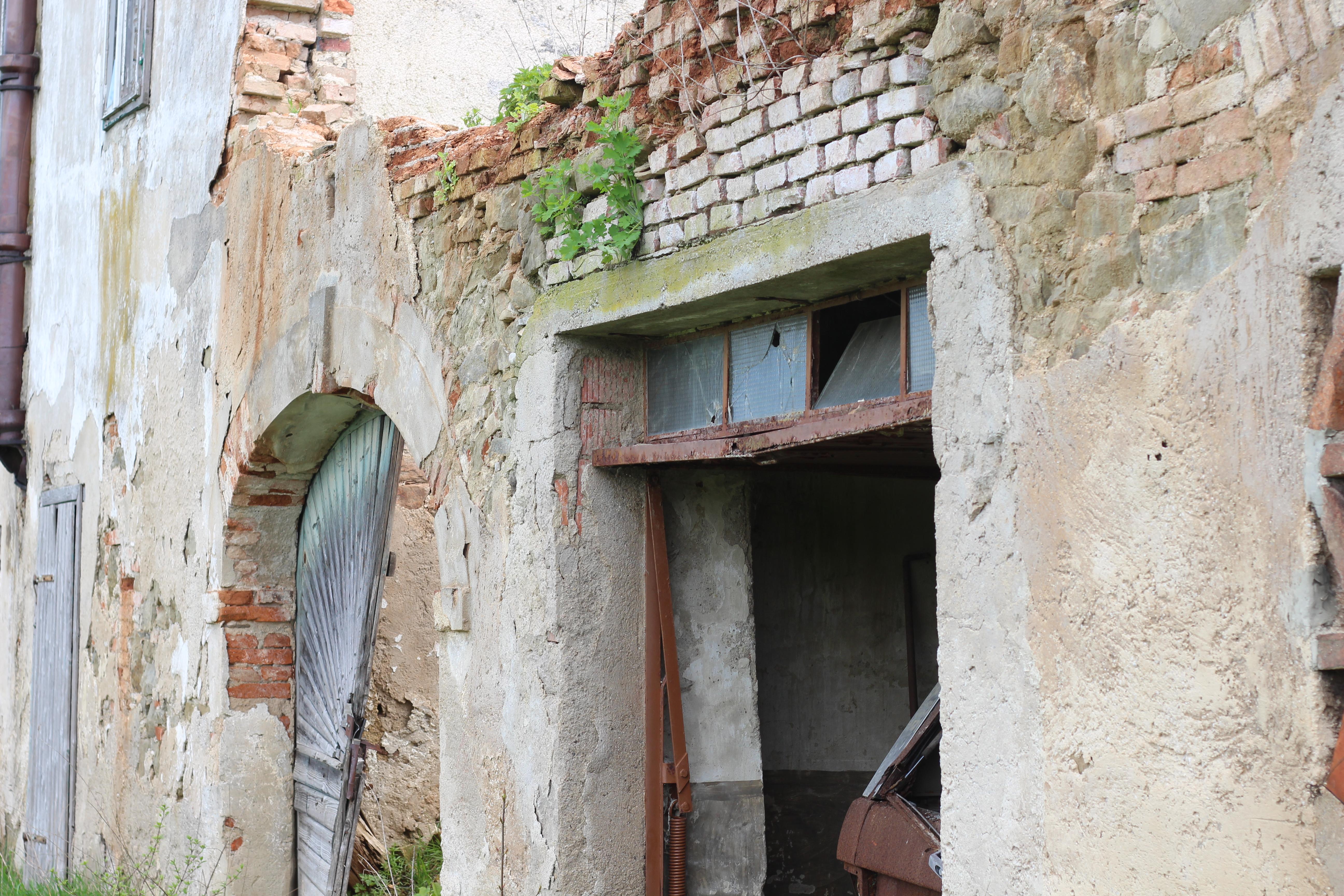 Vierkanter Eingang