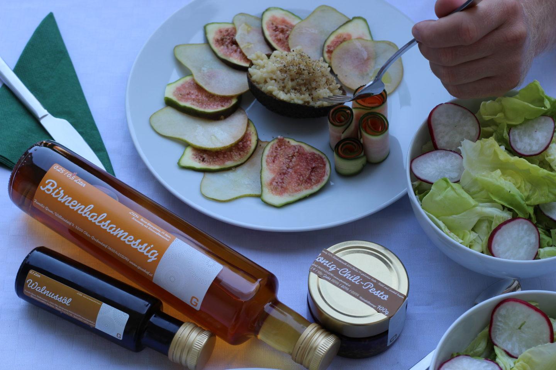 Veganes Feigen – Birnen Carpaccio mit Risotto
