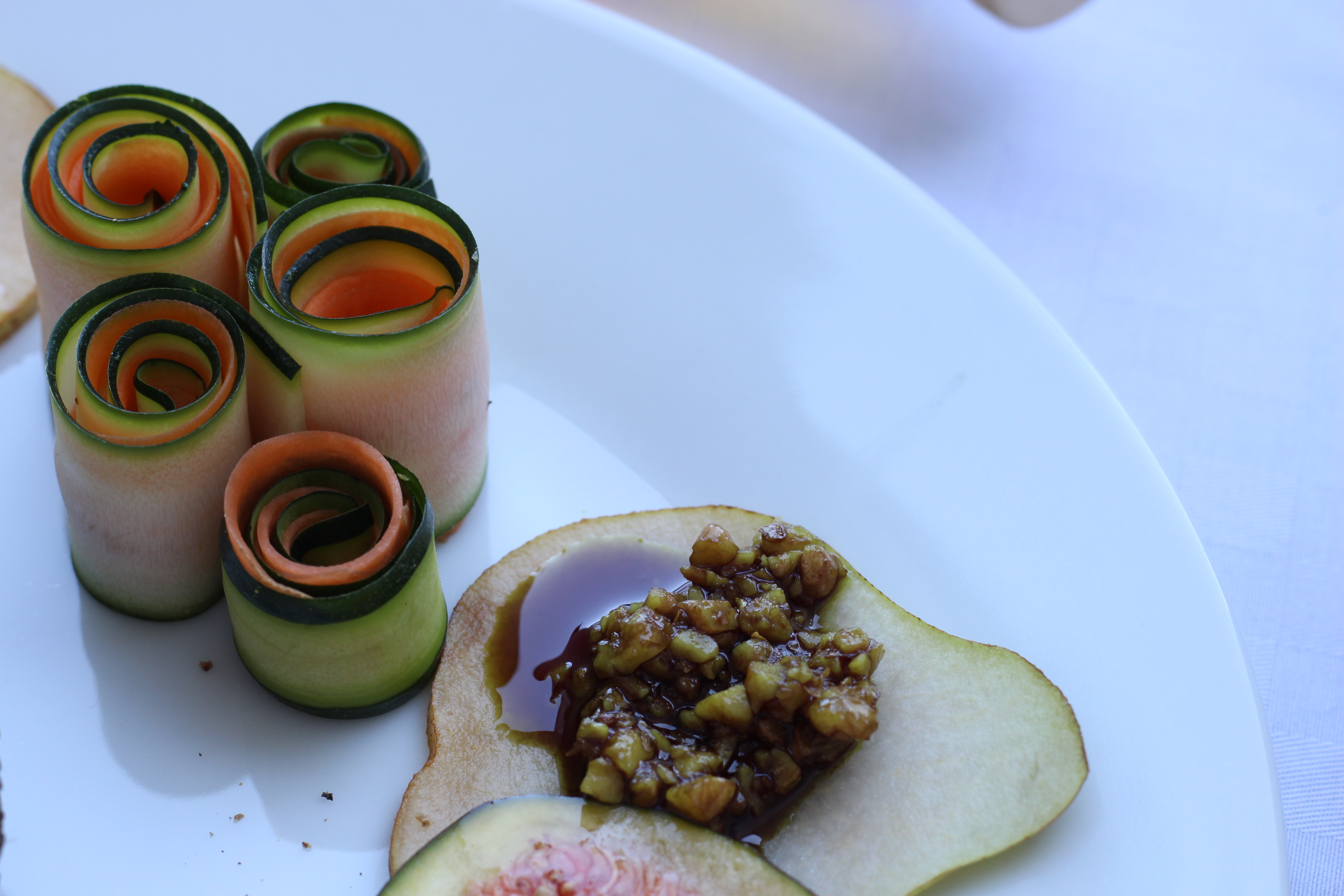 Gramhof Menü Zuchini Karotte mit Pesto