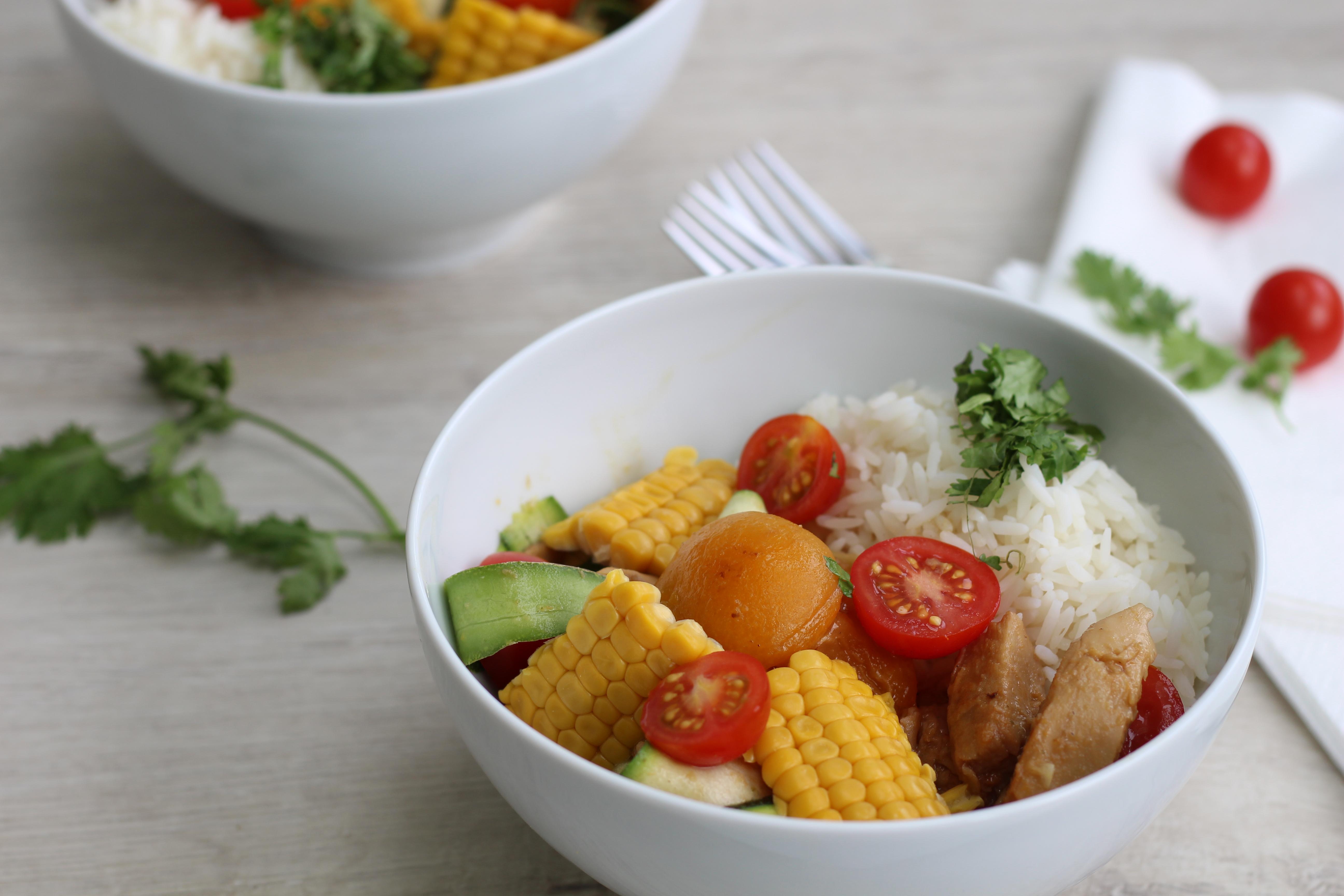 Vegane Reispfanne Süß-Sauer Dein HomeSpa Bowl