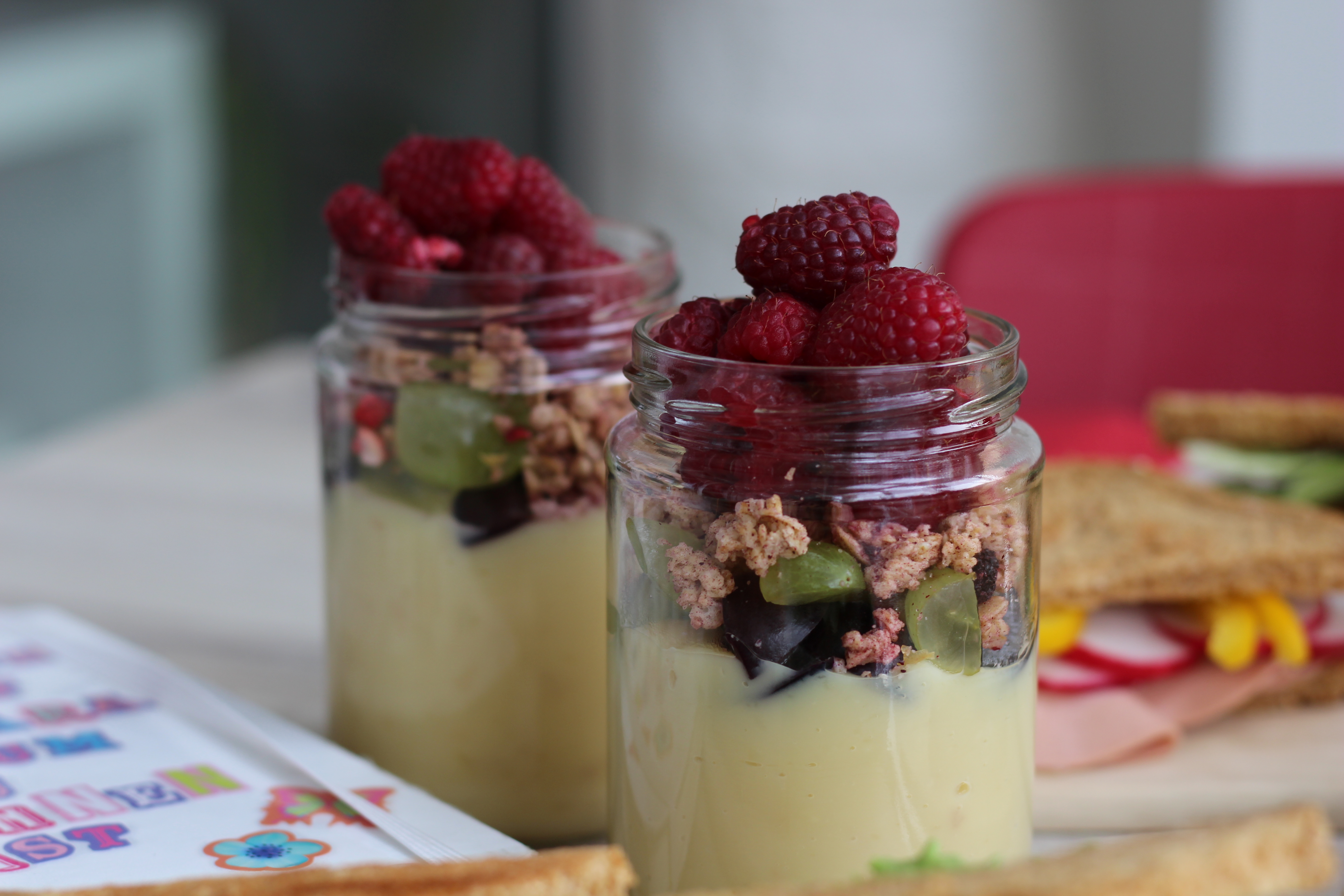 Veganes Frühstück, Sandwich, Vanillepudding, Motivation, (17)