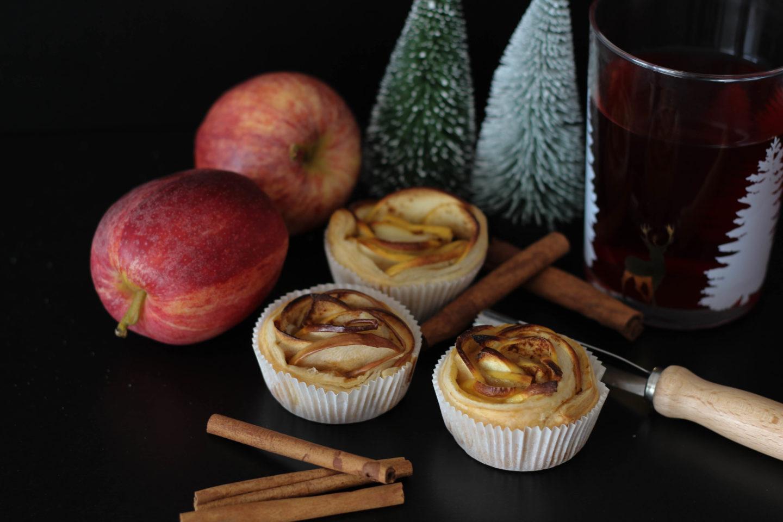Vegane Apfelrosen und Tea Time