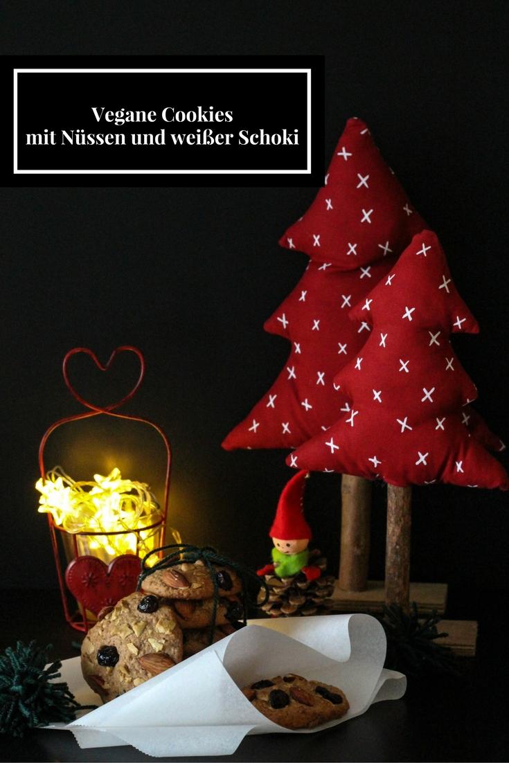 Vegane-Cookiesmit-Nüssen-und-weißer-Schoki - Weihnachten - Christmas - Austrianfood - Soulfood -