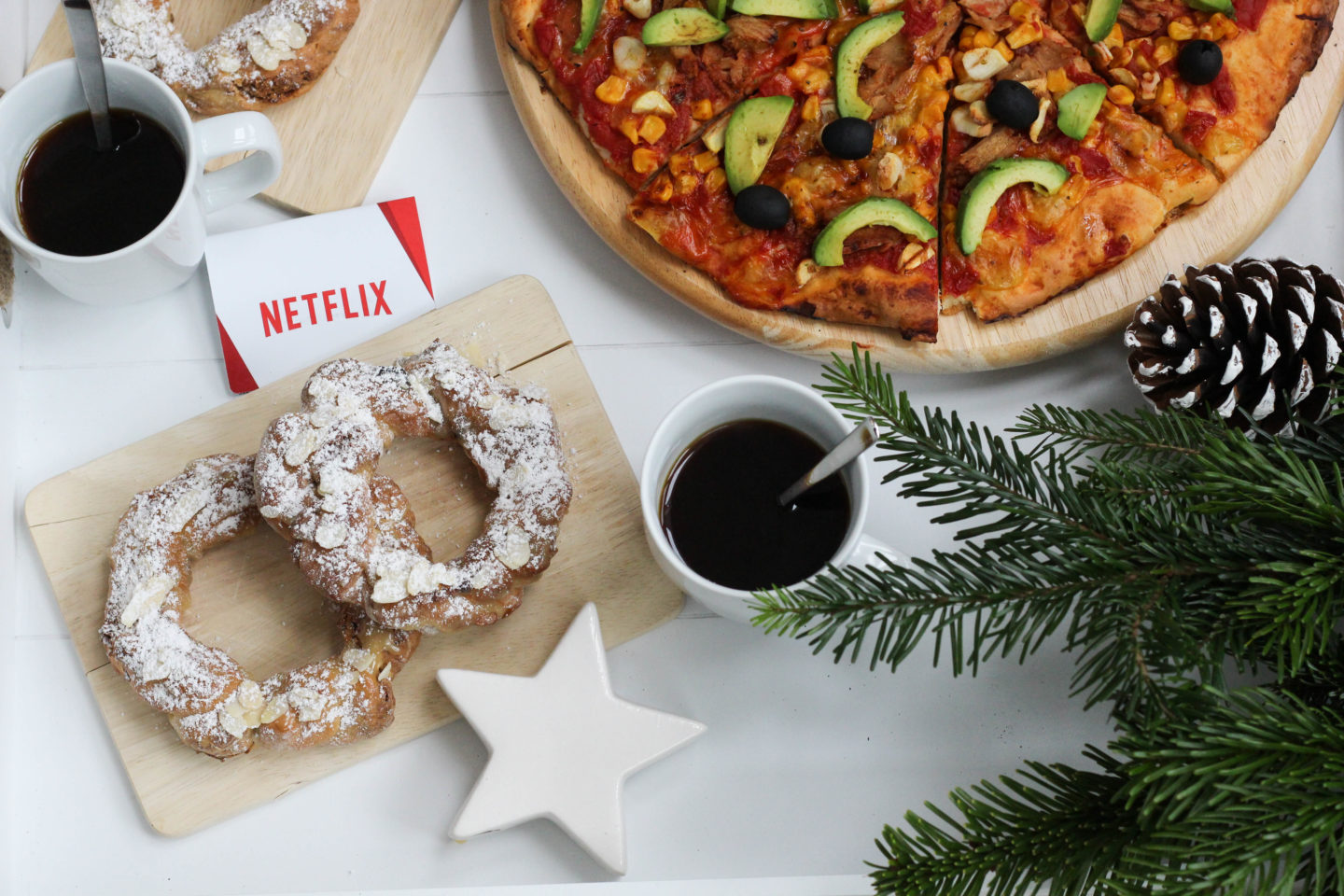 Vegane Gilmore Girls Pizza mit Fast Food Belag