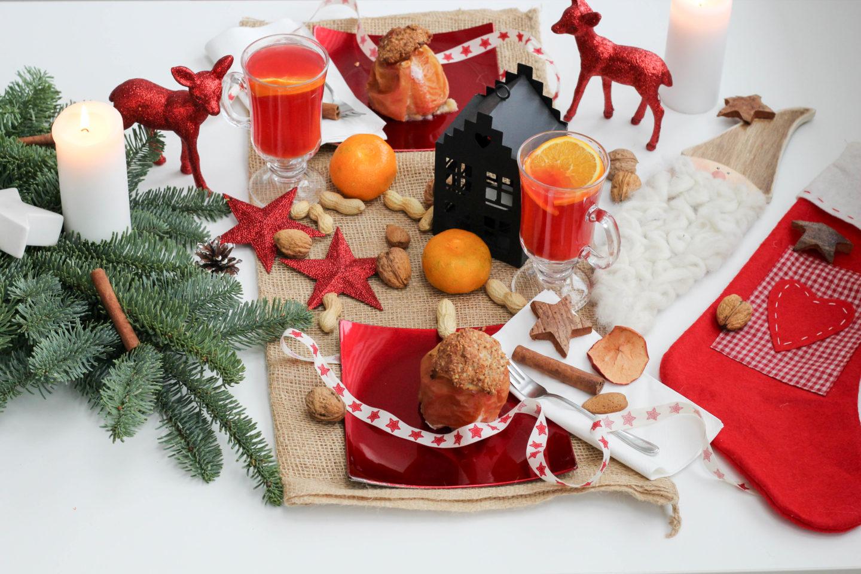 Vegane Bratäpfel und der Nikolaus mit seinen finsteren Gesellen