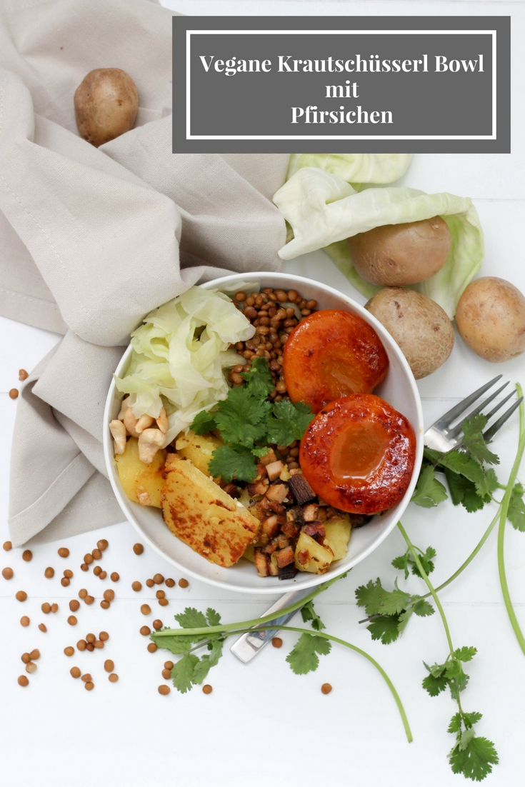 Bowl - Vegan - Kraut - Koriander - Pfirsich - Healthy - Plantbased -Homespa