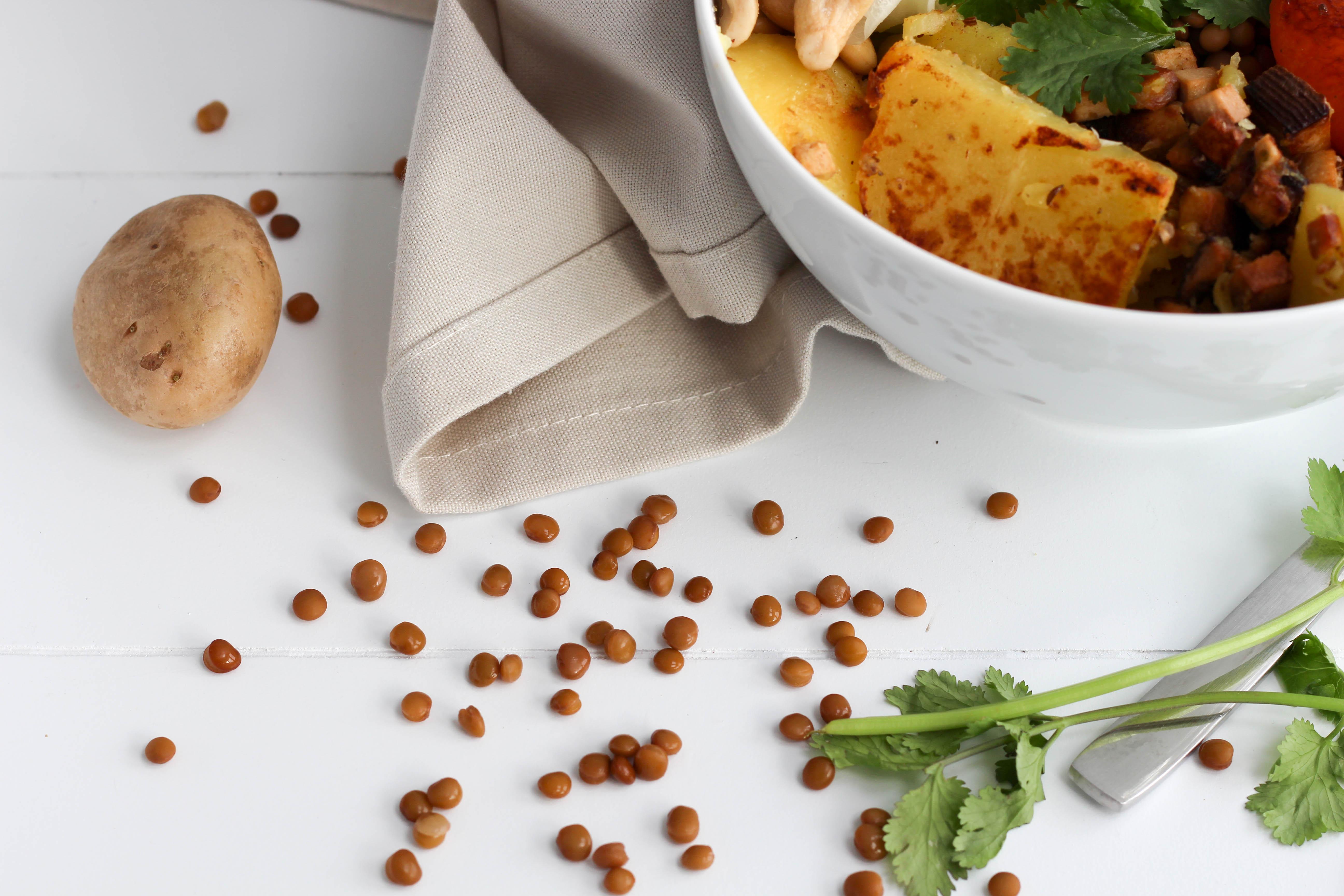 Bowl - Vegan - Kraut - Koriander - Pfirsich - Healthy - Plantbased -Homespa - Krautschüsserl