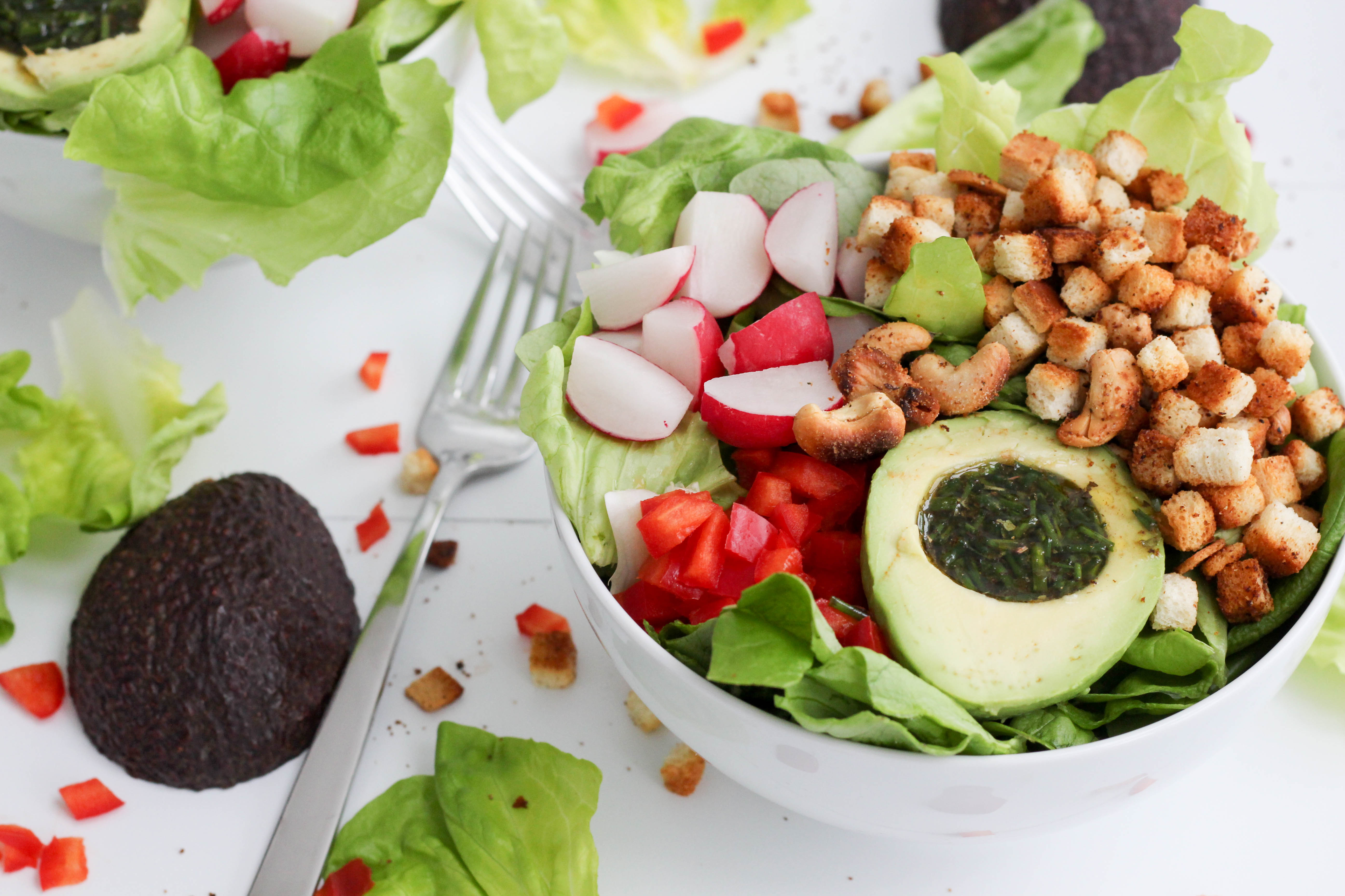 Vegan - Avocado - Salat - Healthy -Plantbased - Fast Food - Bowl