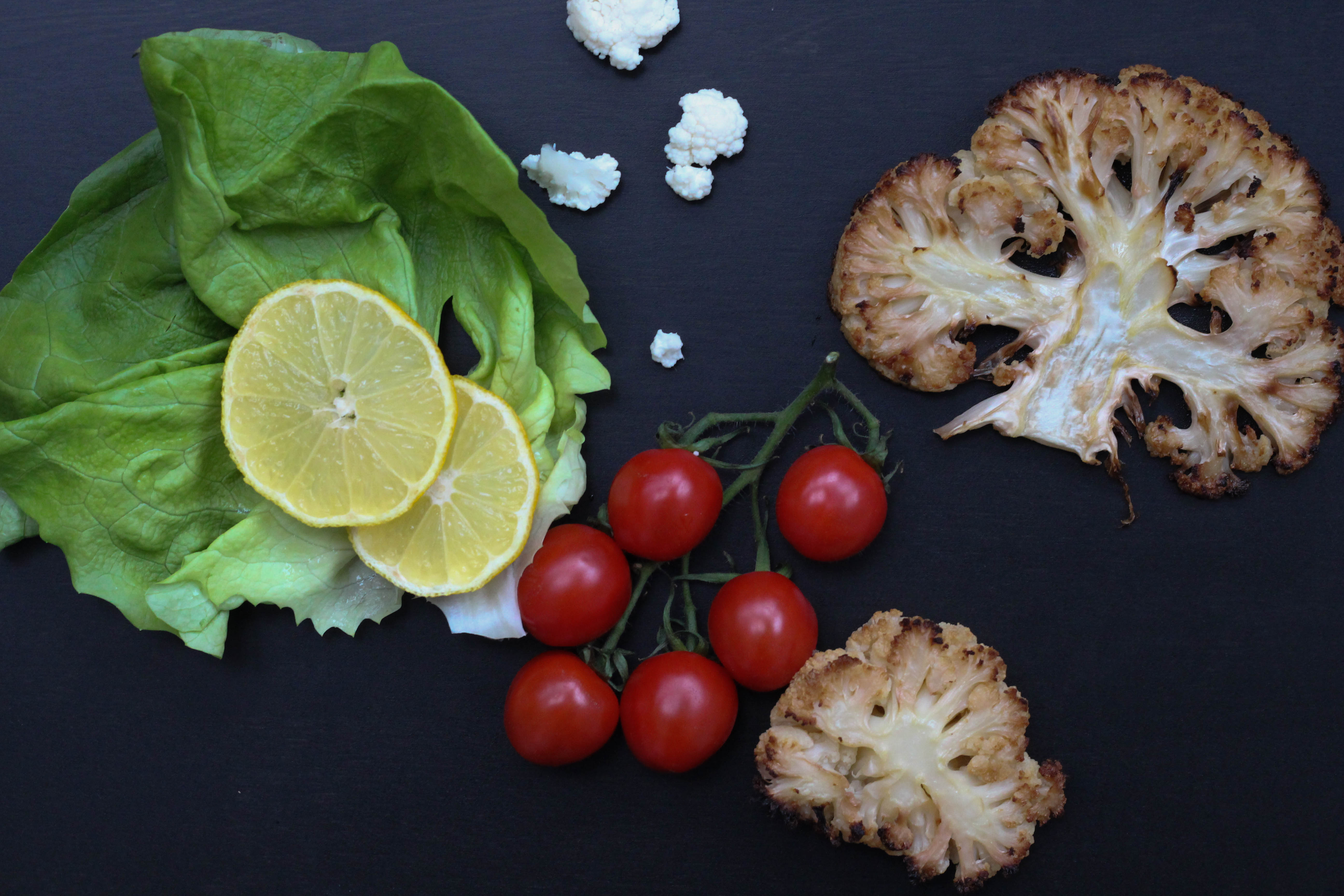 Vegan - Ofen - Blumekohl - Karfiol -Homespa -Plantbased - Healthy