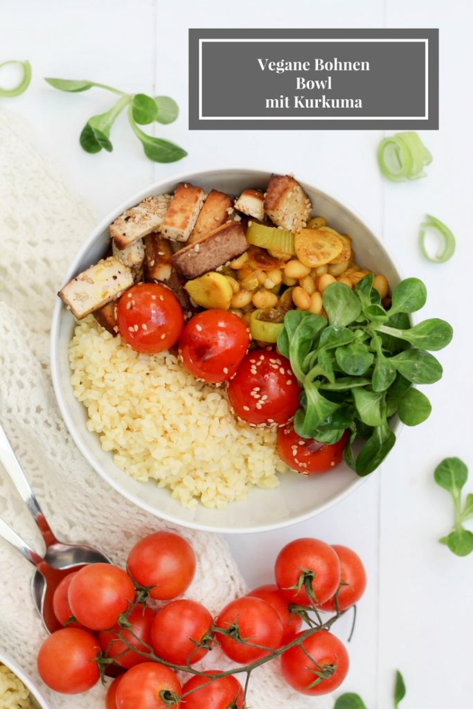 Dein Homespa - Vegan - Plantbased - Healthy - Lifestyle - Bowl - Bohnen - Kurkuma