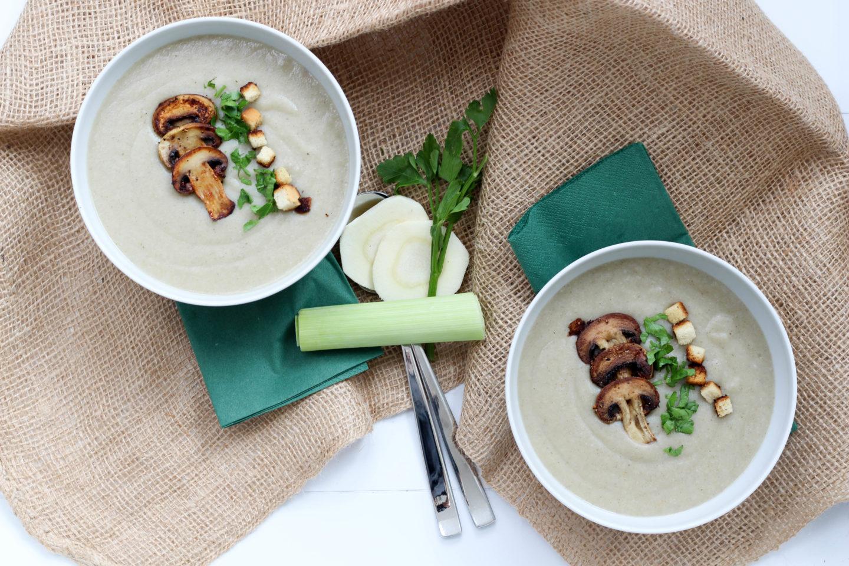 Vegane Champignon – Cremesuppe mit Quendel