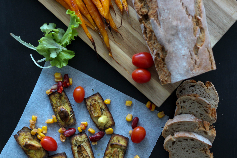 Vegane Tofu Jause für laue Sommerabende