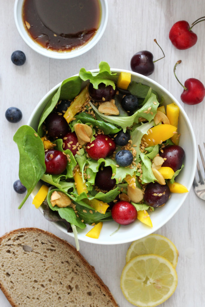Vegan HomeSpa, Kirschbowl, Kirschen, Kirschsalat, Healthyfood, Kirschen, Vegan in Österreich