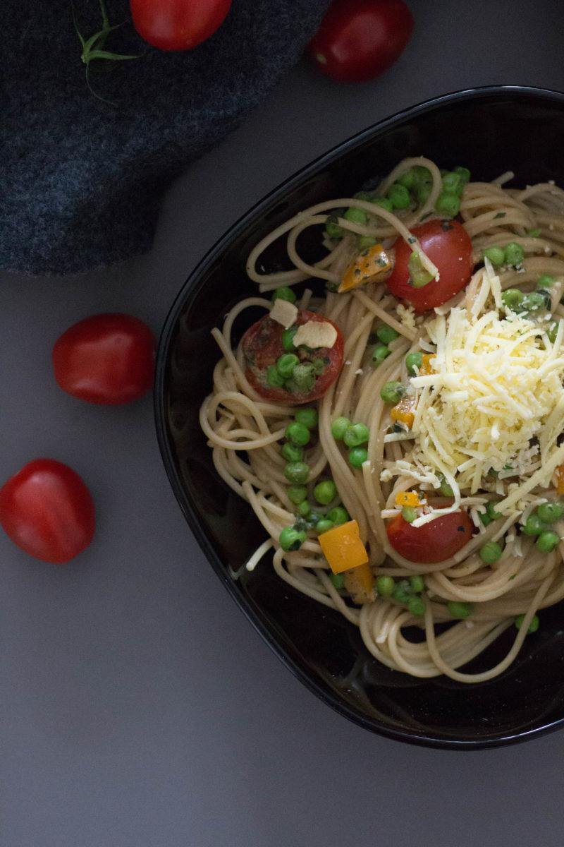 Vegan, Pasta, Nudelpfanne, Spaghetti,Sommerpasta, Clean Eating, Mostviertel, Dein Homespa, Italien