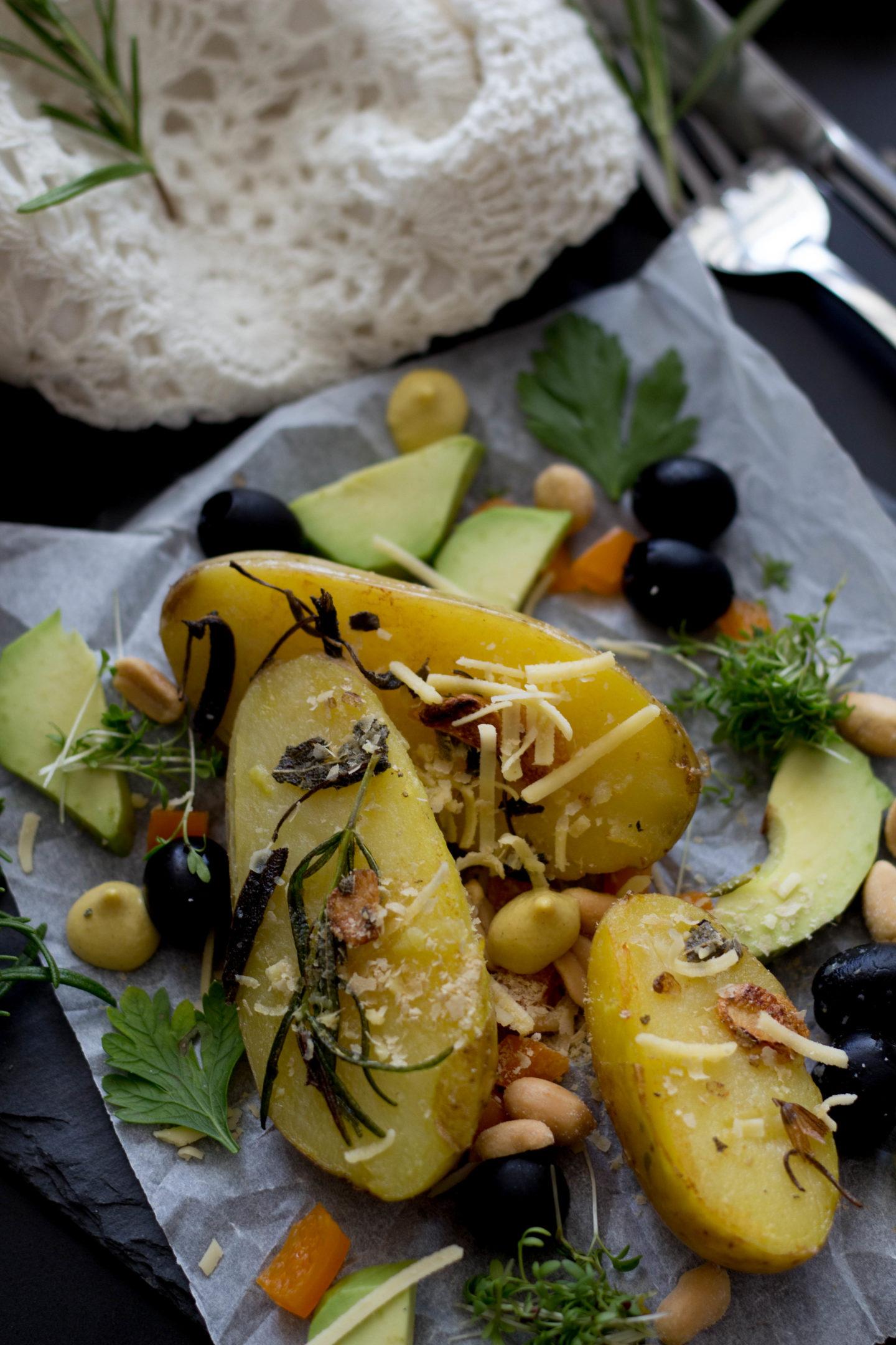 Vegane Sommer Erdäpfel, Kräuterbutter, Homespa, Schnelle Küche, Clean eating,