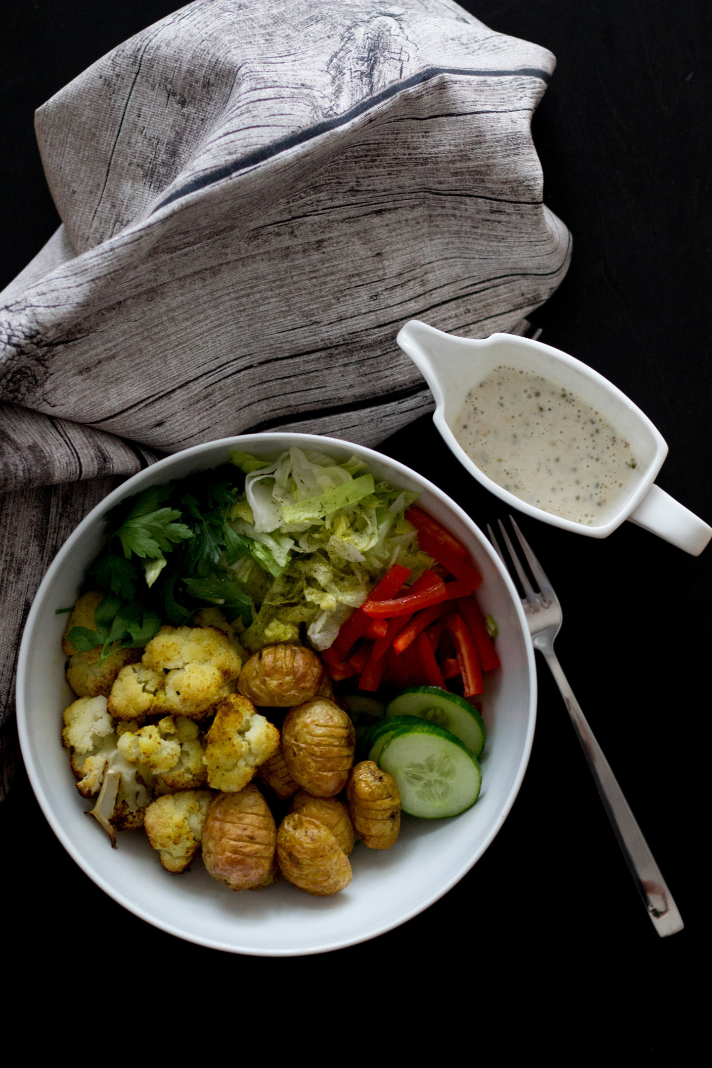 Vegan, Dein HomeSpa, Austria, Mostviertel, Bowl, Caesar Dressing, Karfiol, Cooking, Cleaneating, Kräuterküche