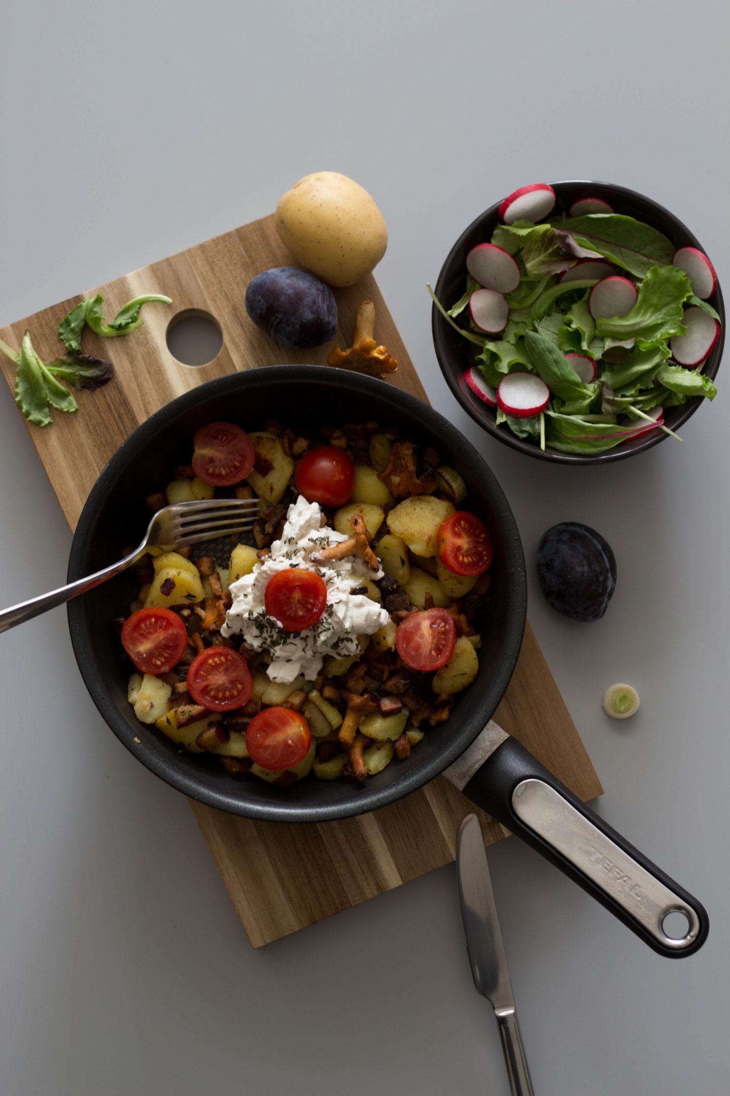 Vegan, Dein HomeSpa, Austria, Mostviertel, Bowl, Cooking, Cleaneating, Kräuterküche, Geröstete Eierschwammerl
