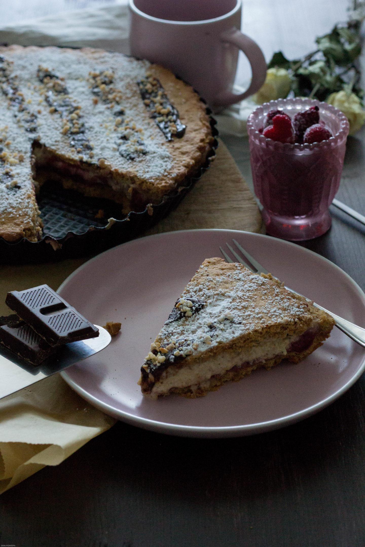 HomeSpa, Vegan Cooking, Austria, Mostviertel, Bake my Cake, Vegane Himbeere Vanille Tarte