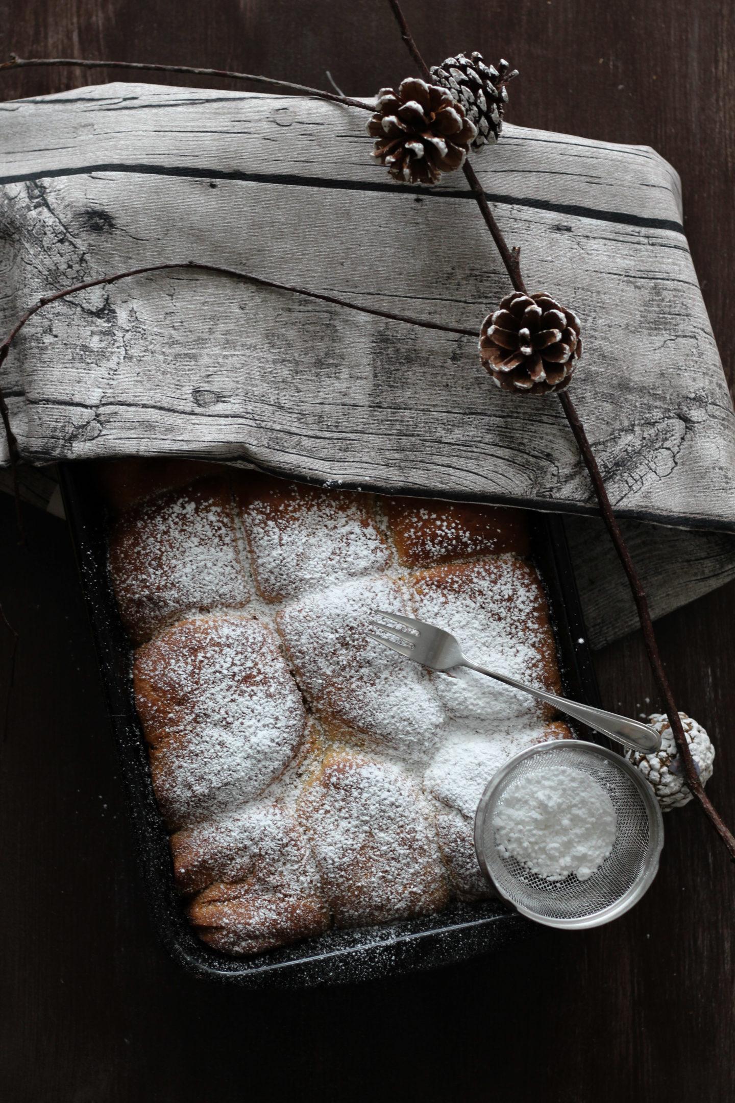 HomeSpa, Vegan Cooking, Austria, Mostviertel, Winter, Vegane Buchteln mit Marillenmarmelade