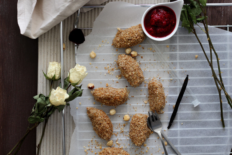 Vegane, glutenfreie Vanille Topfennockerl