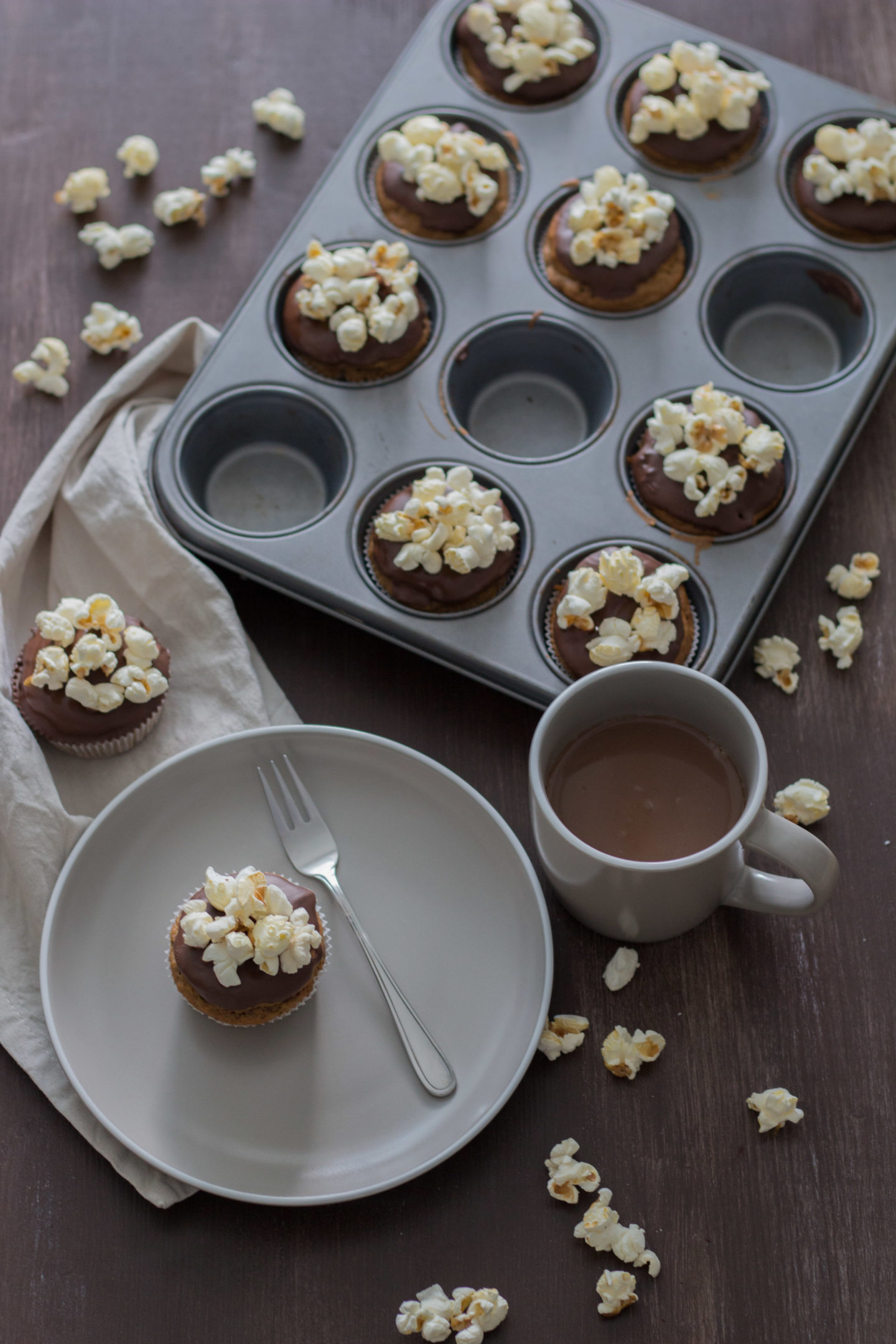 HomeSpa, Vegan Cooking, Austria, Vegane Popcorn Muffin