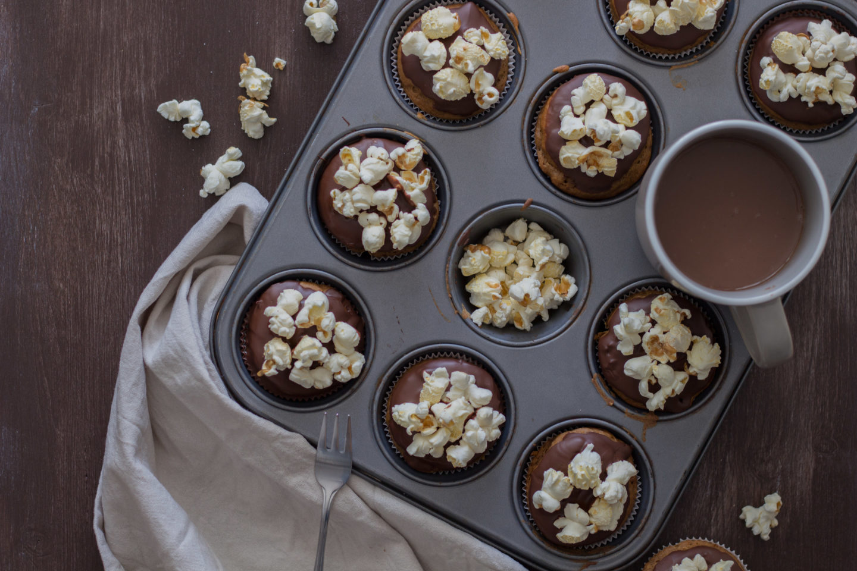 Vegane Popcorn Muffin