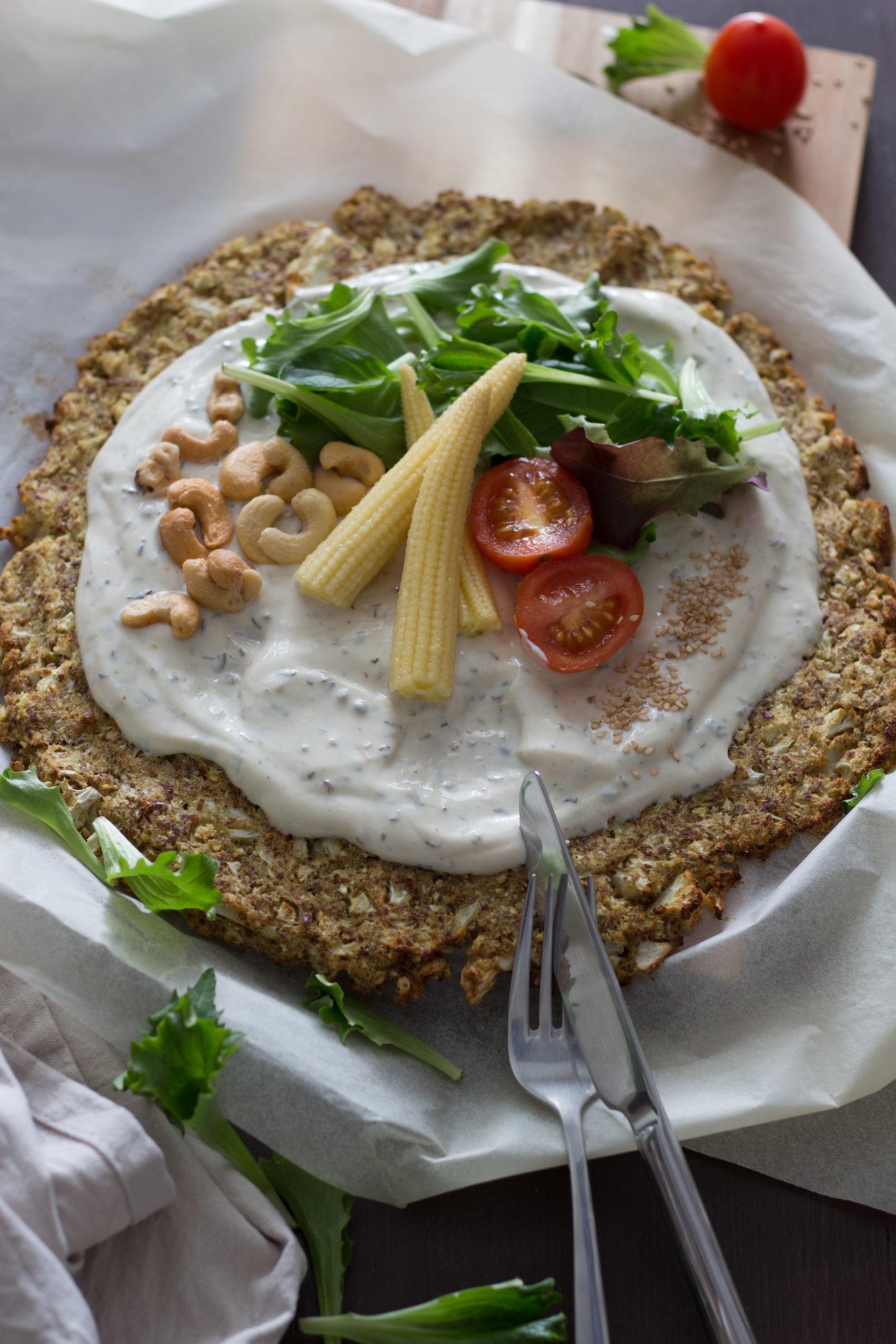 HomeSpa, Vegan Cooking, Austria, Vegane Blumenkohl Pizza