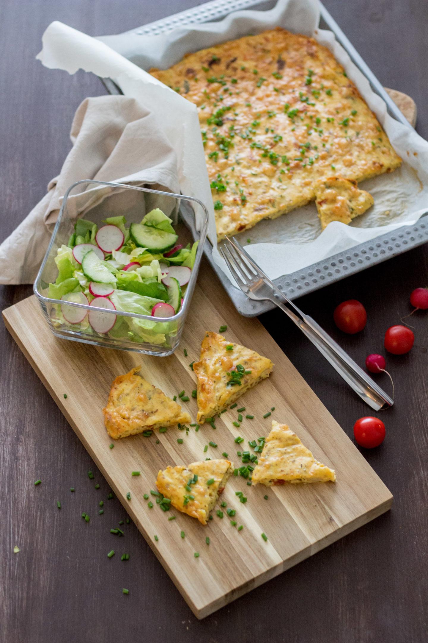 Vegetarische, glutenfreie Kartoffelpizza