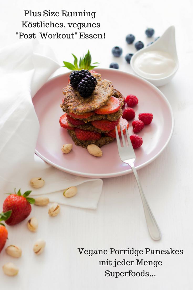 Vegane Porridge Pancakes mit jeder Menge Superfoods...