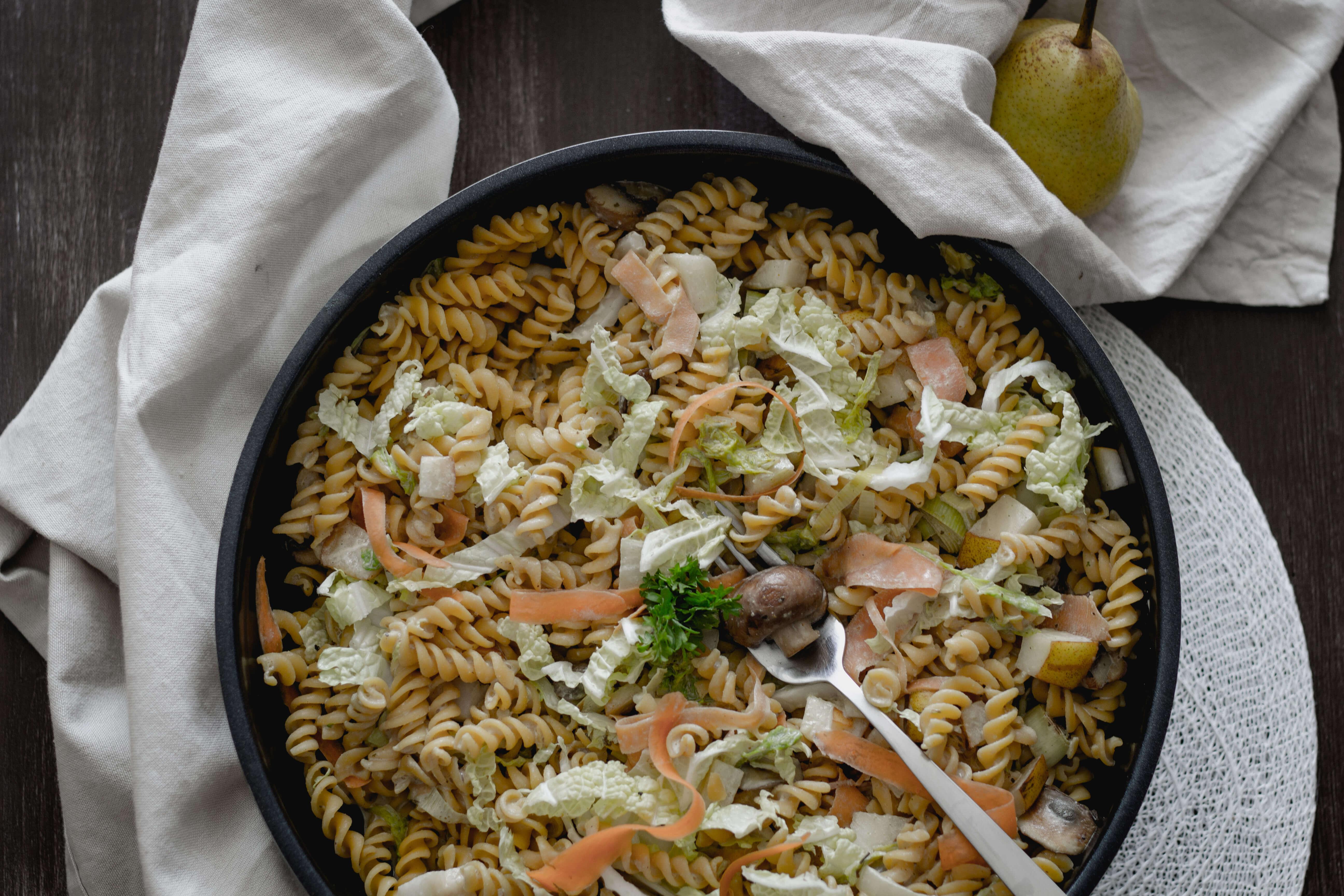 Vegane Kichererbsen Pasta mit Birnen...