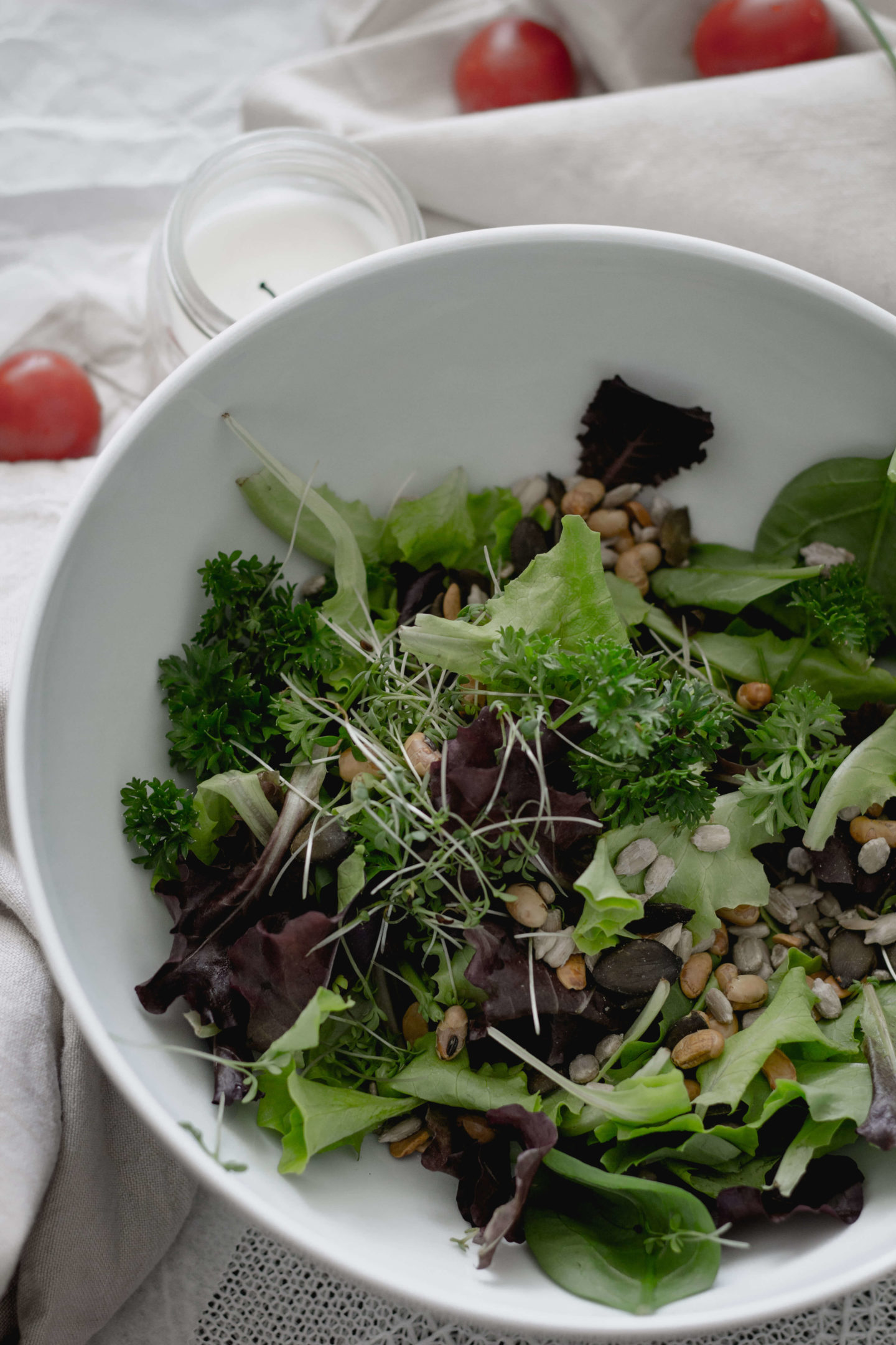 Veganer Linsensalat mit Rote Rüben