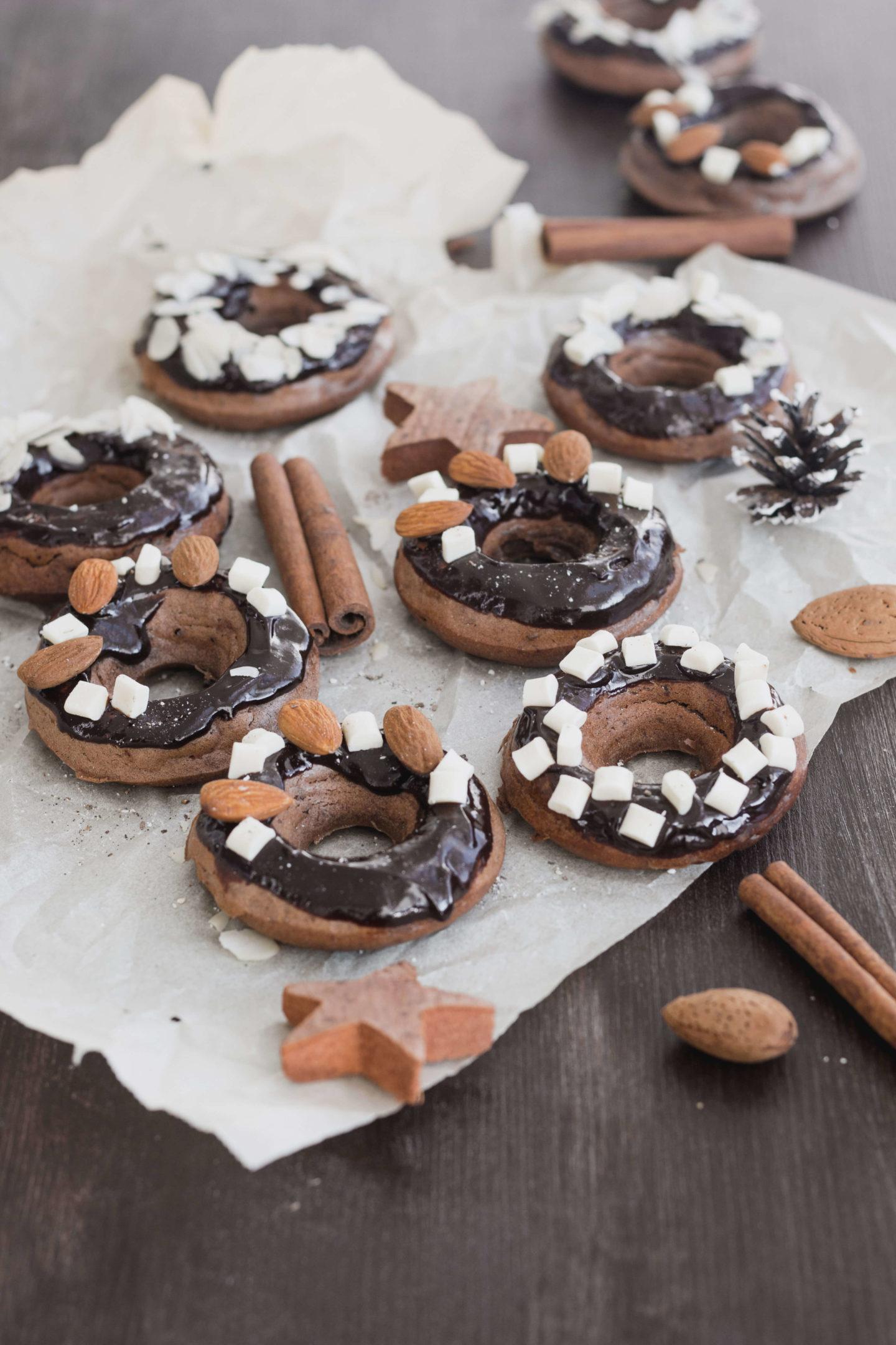 Vegane Schoko Donuts ohne Germ!