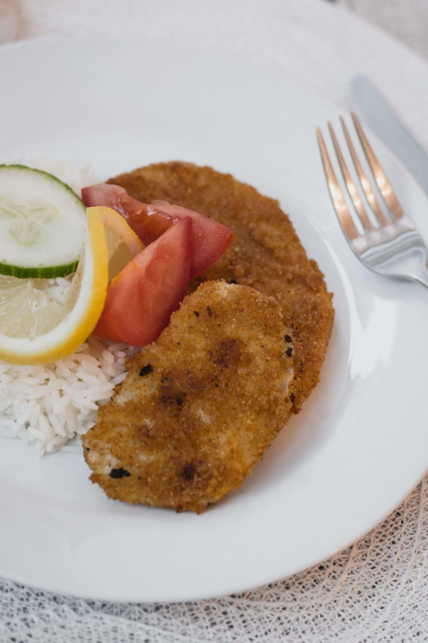Veganes Sellerie Schnitzel mit Knusperpanier!