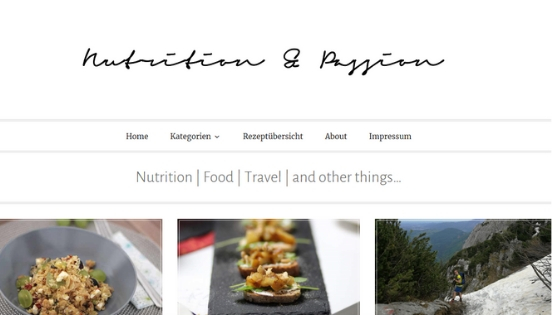 Nutrition&Passion - Ein Blog voller Lebensgenuss!