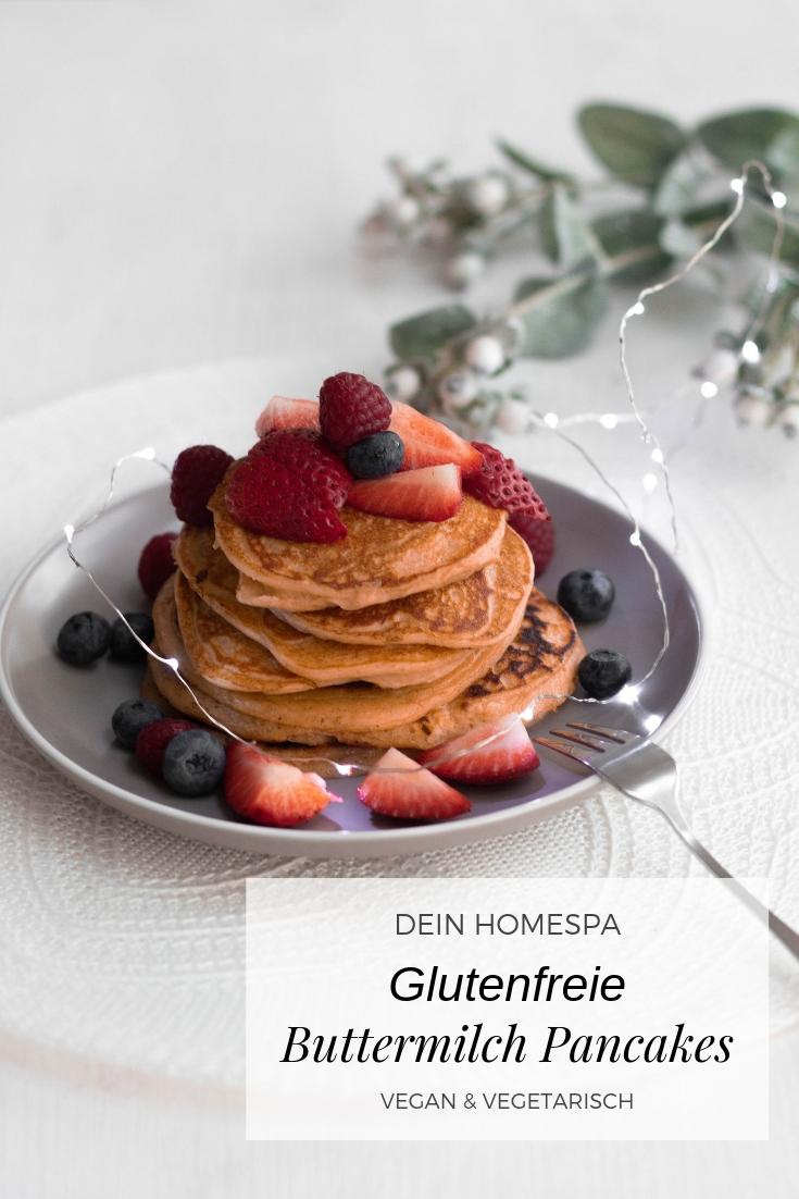 Glutenfreie Buttermilch Pancakes