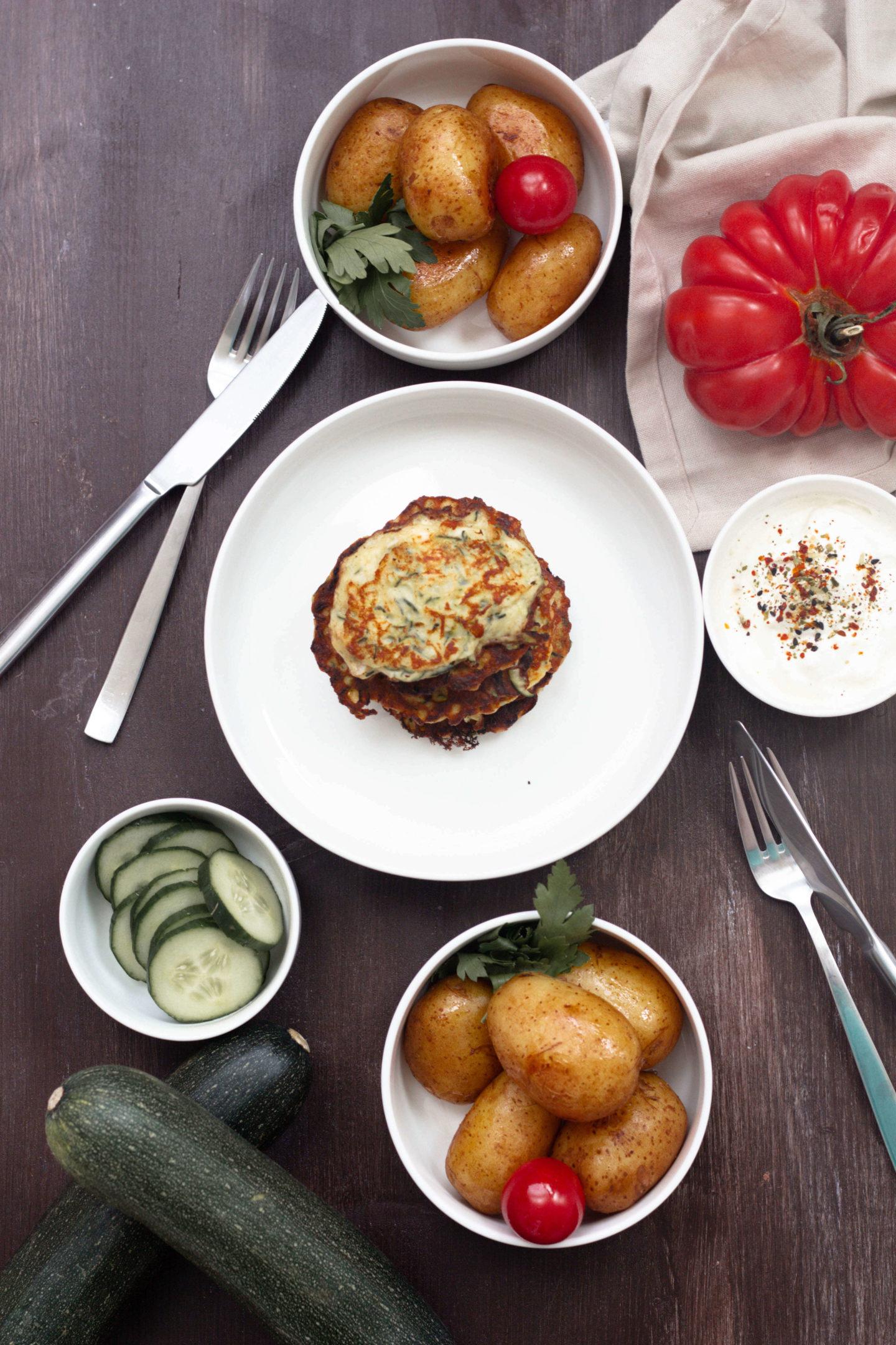 Schafkäse-Zucchinipuffer-Sommergemüse- Vegetarisch-Dein HomeSpa- Food & Wohlfühlblog aus dem Mostviertel