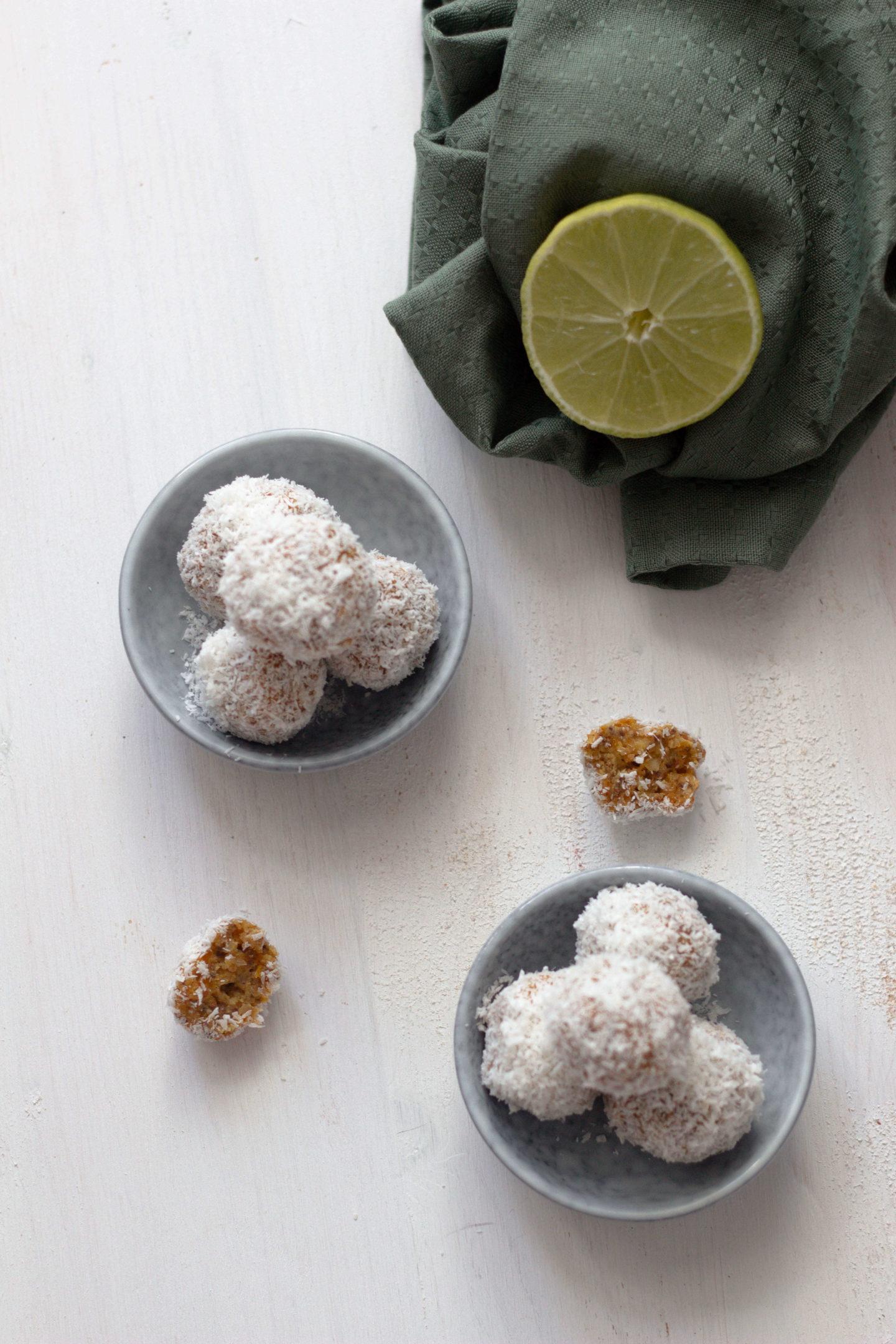 Vegane Marillen Kokos Limette Bliss Balls-Dein HomeSpa- Food & Wohlfühlblog aus dem Mostviertel