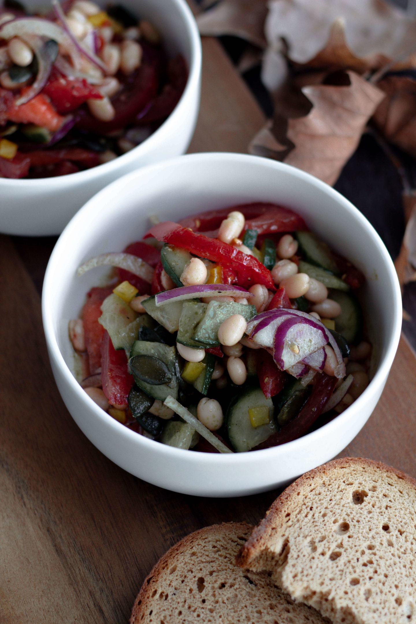 Veganer Bohnensalat-Hygge-Herbst-Dein HomeSpa- Food & Wohlfühlblog aus dem Mostvierte
