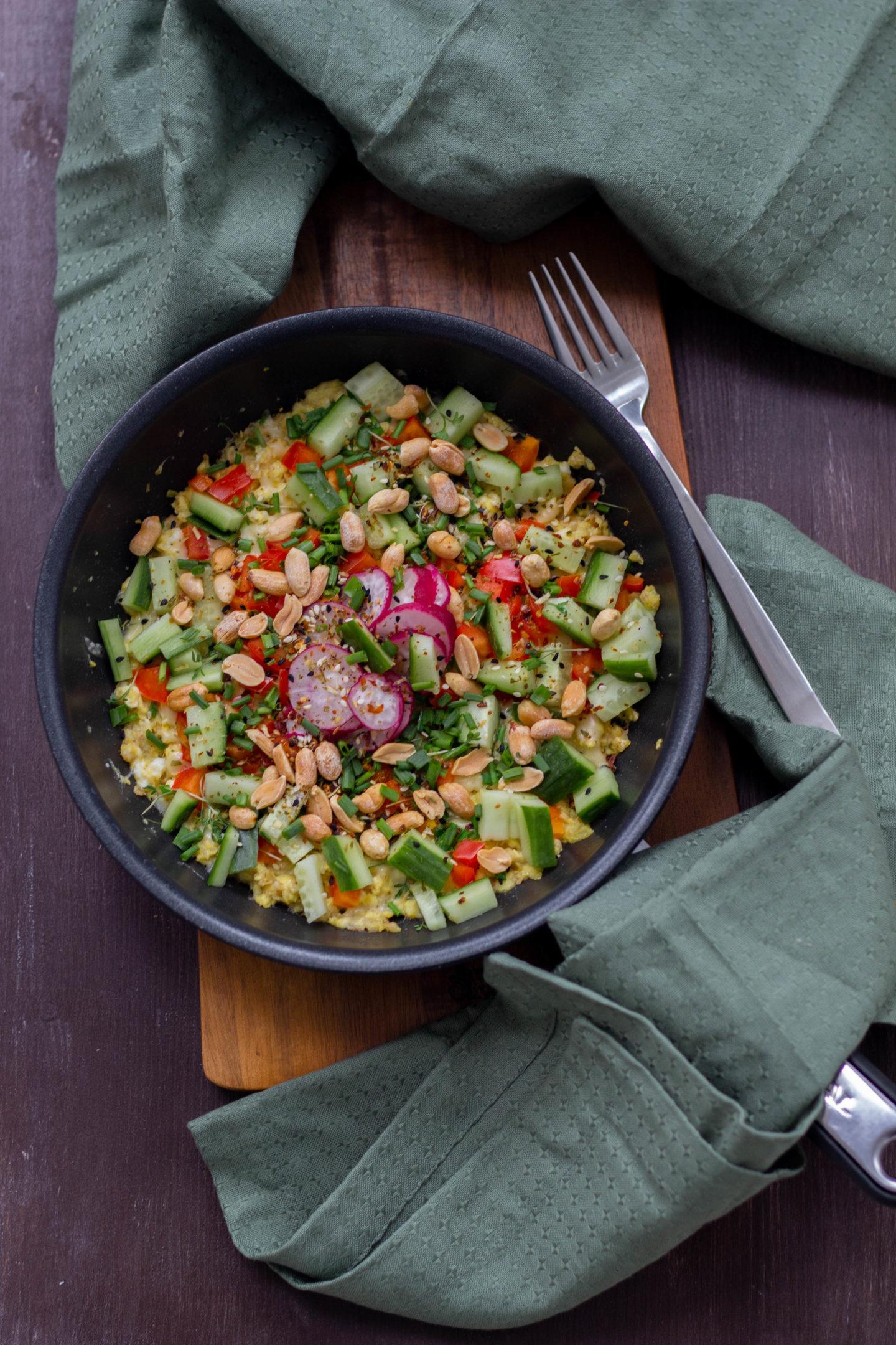 Vegetarische Eierspeise mit pflanzlichen Protein -Haferflocken -Dein HomeSpa- Food & Wohlfühlblog aus dem Mostviertel