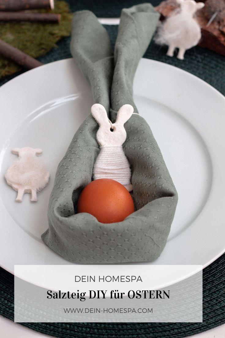 Ostern DIY- Salzteig basteln zu Ostern - Tischdeko Ostern- www.dein-homespa.com