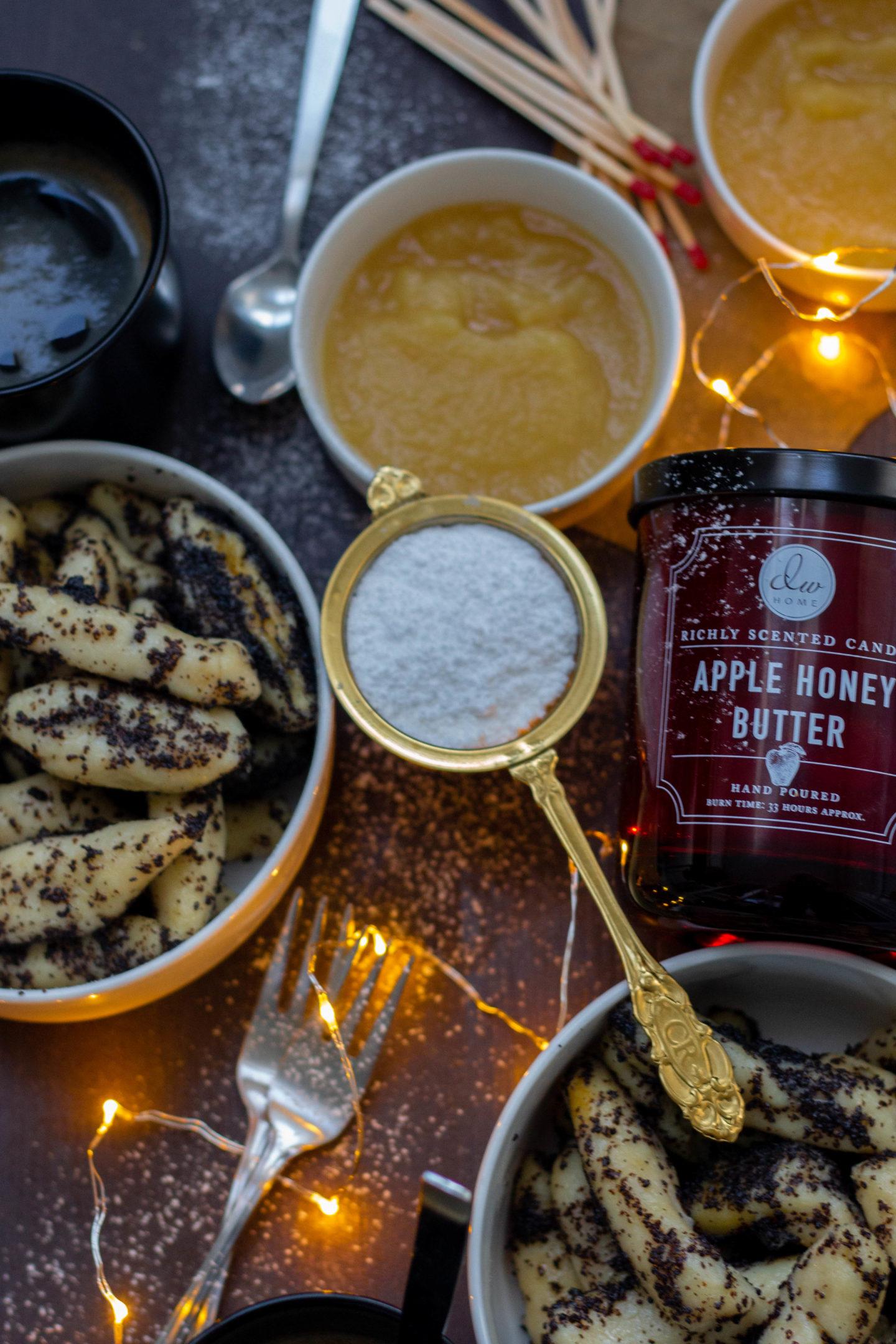 Mohnnudeln - Dein Homespa- Food & Wohlfühlblog aus dem Mostviertel - Zimtzucker-Dinkel-Mohnnudeln-Seelenglück-Advent-Winter im Herzen