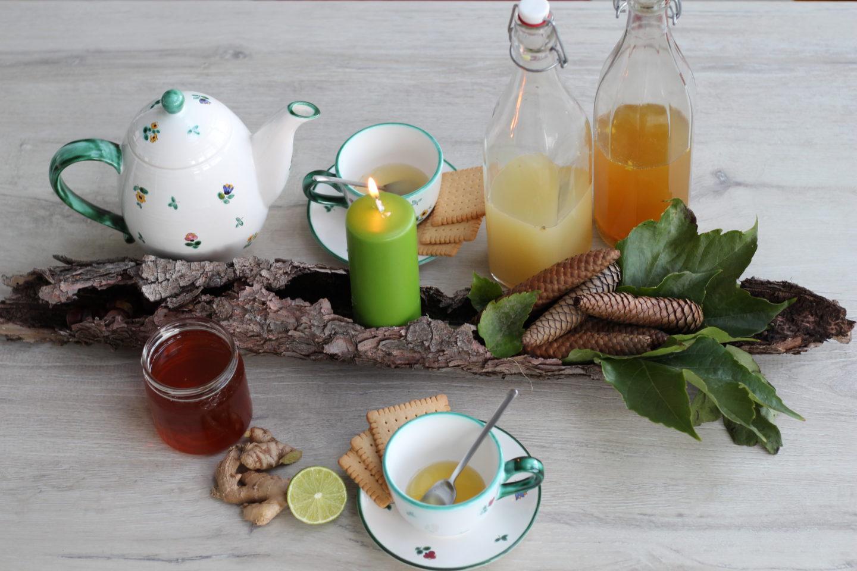 DIY Wald Tischdeko und Tee Sirup von Sir Henry the Chi