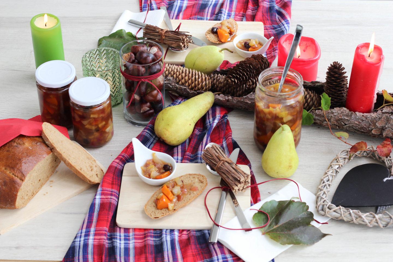 Veganes Kürbis Chutney mit Birnen