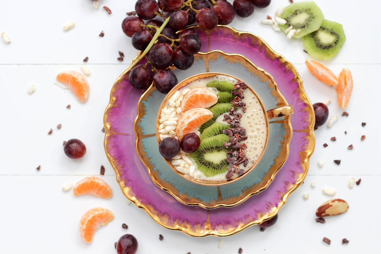 Vegan - Winter - Homespa - Bowl - Weintrauben