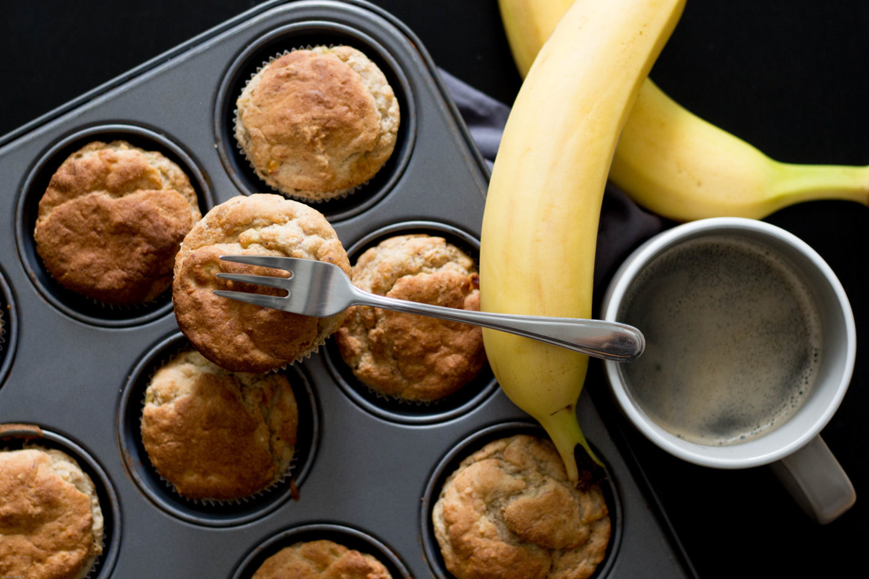Glutenfreie, vegane Bananenmuffin